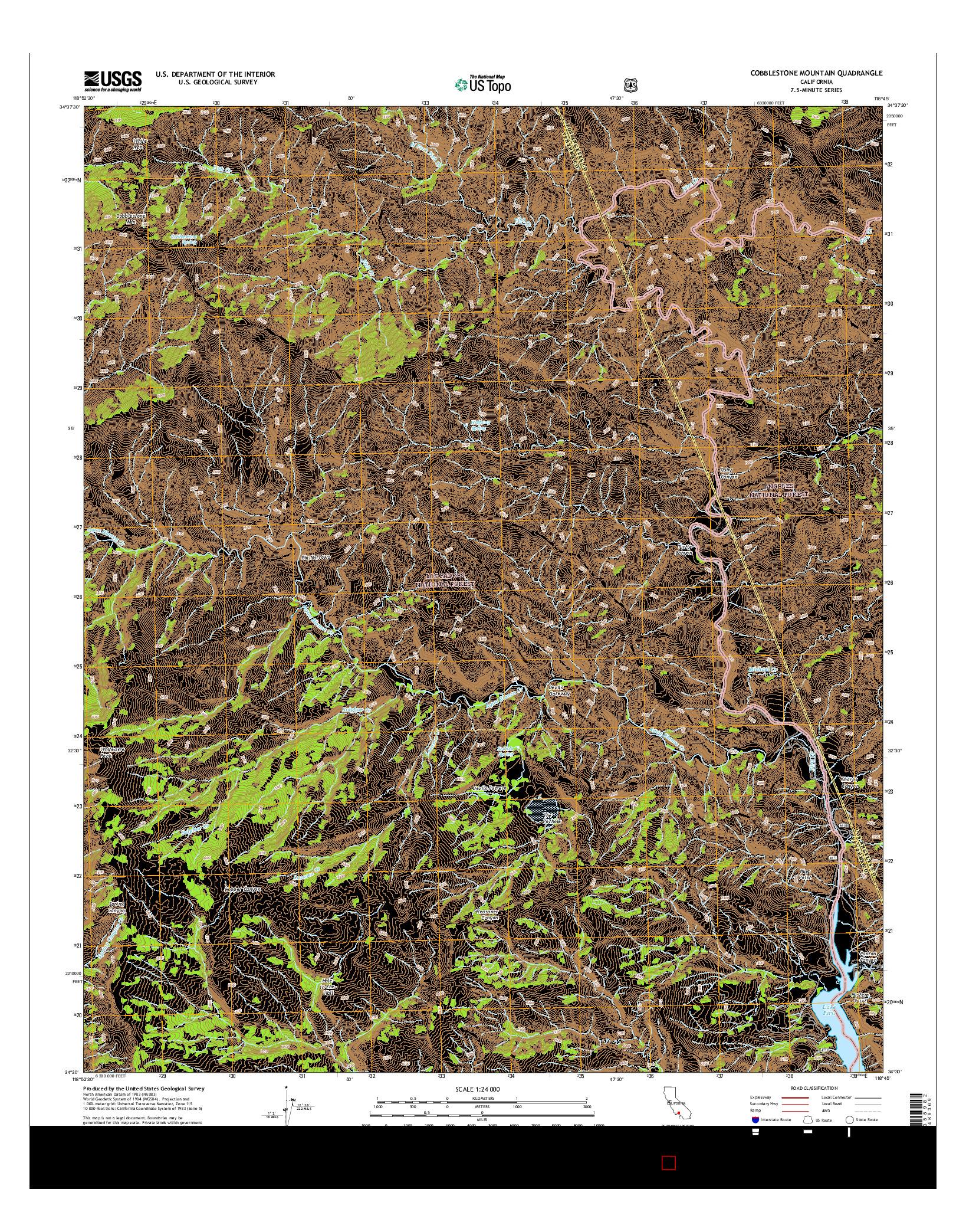 USGS US TOPO 7.5-MINUTE MAP FOR COBBLESTONE MOUNTAIN, CA 2015