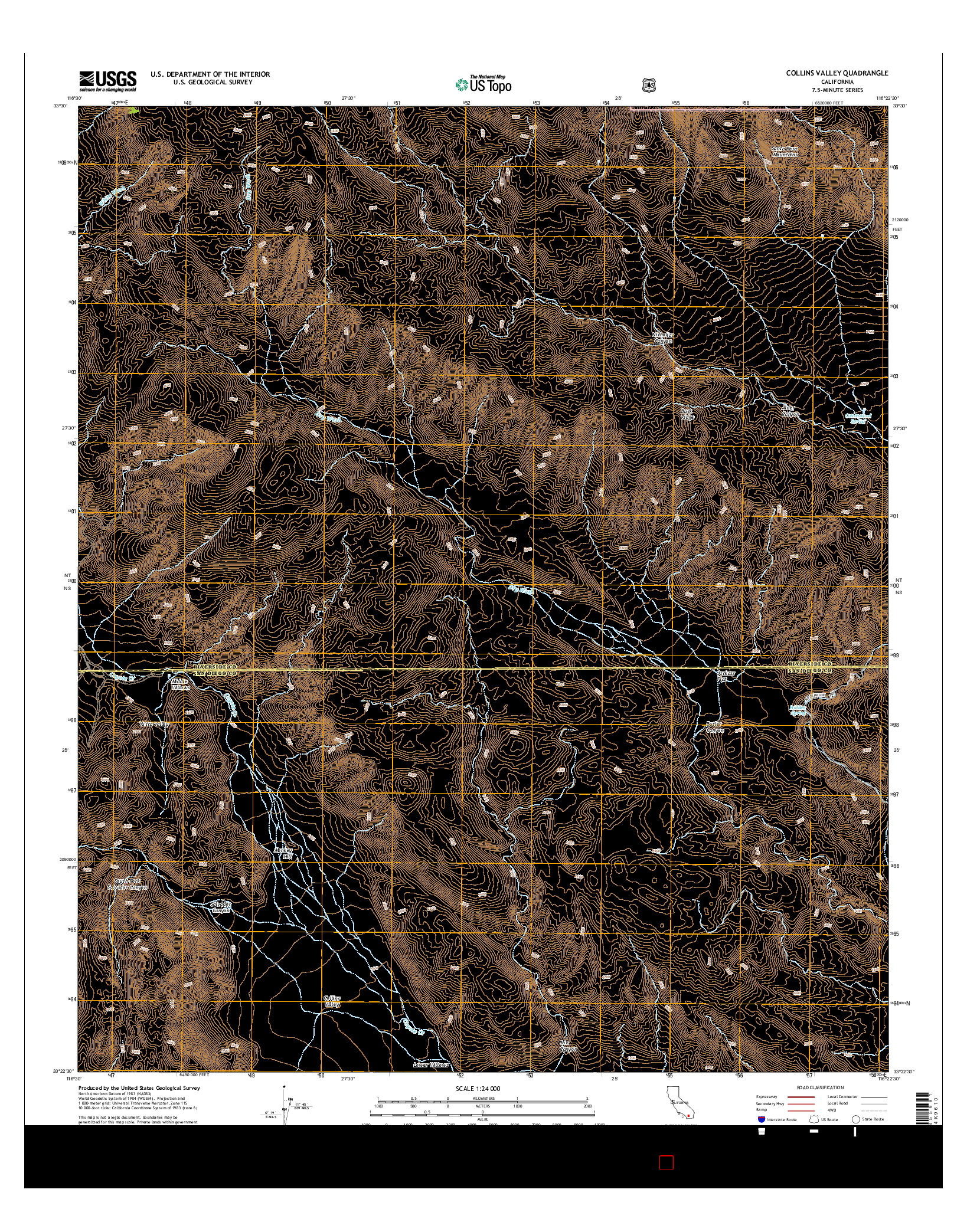 USGS US TOPO 7.5-MINUTE MAP FOR COLLINS VALLEY, CA 2015