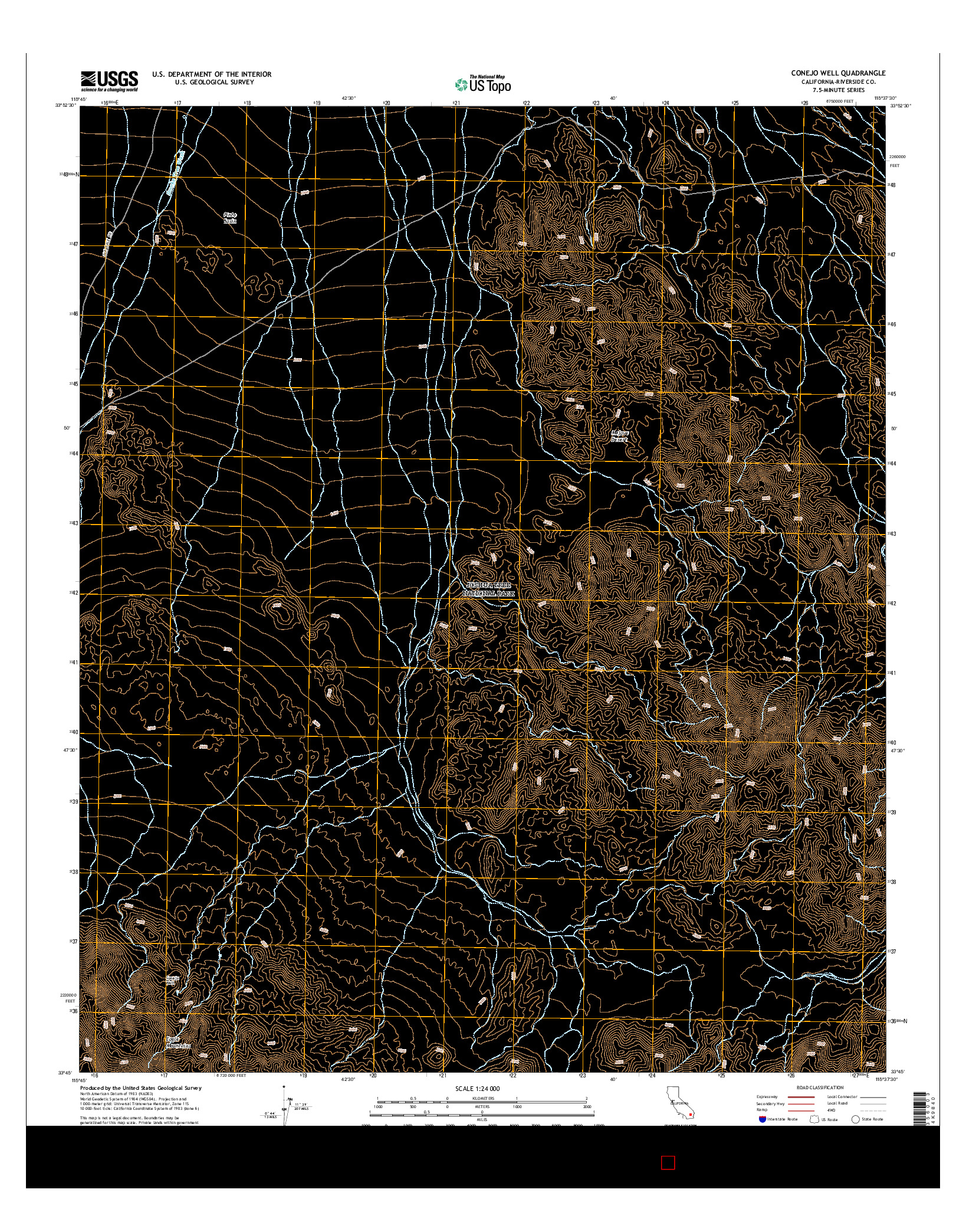 USGS US TOPO 7.5-MINUTE MAP FOR CONEJO WELL, CA 2015