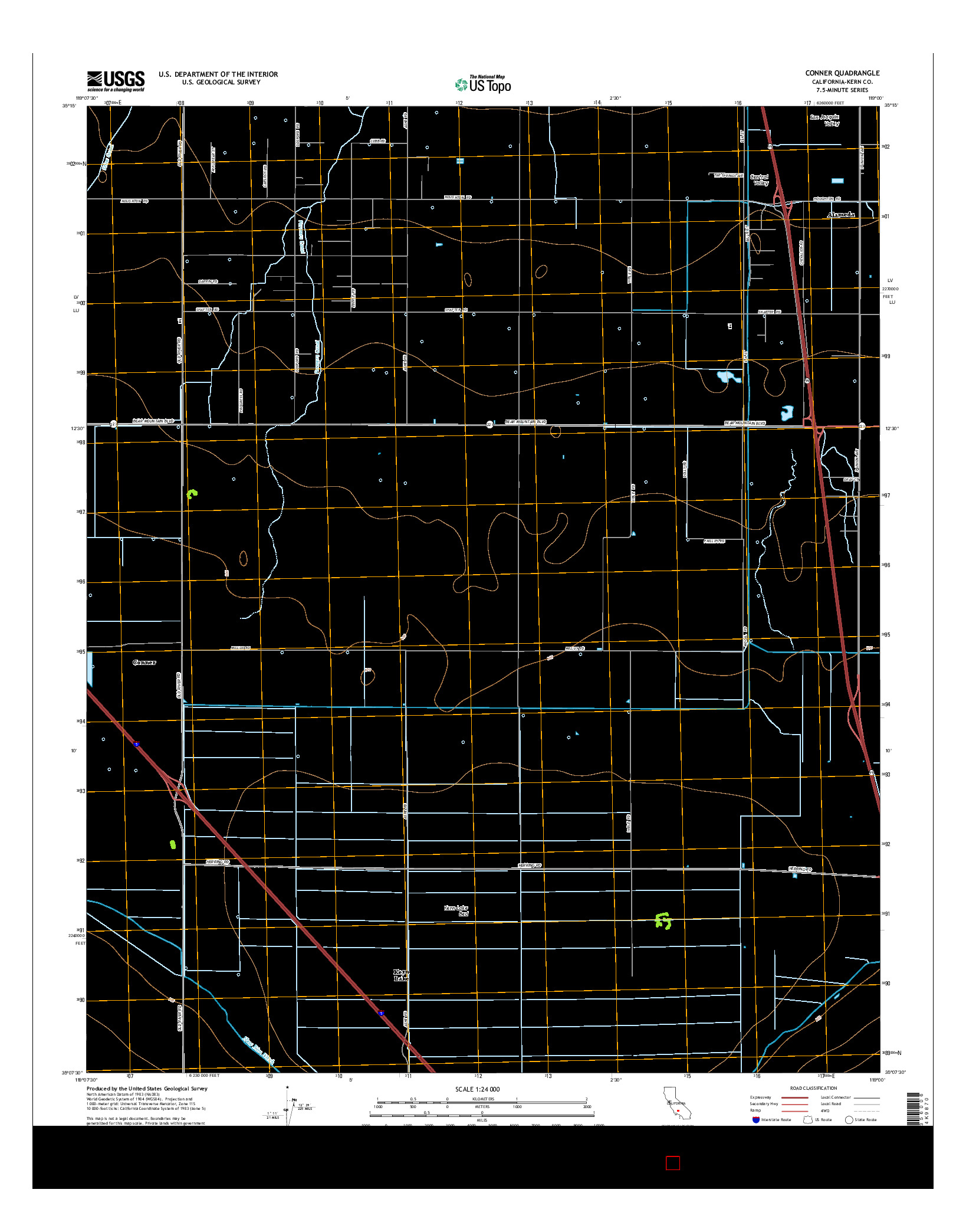 USGS US TOPO 7.5-MINUTE MAP FOR CONNER, CA 2015