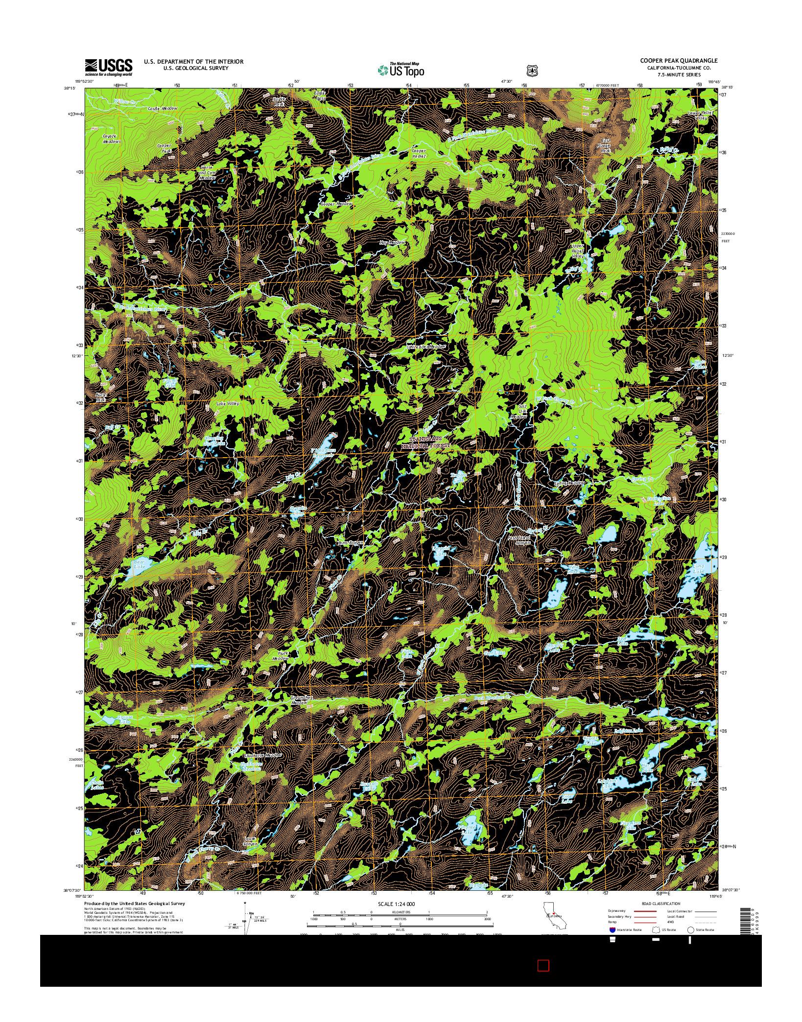 USGS US TOPO 7.5-MINUTE MAP FOR COOPER PEAK, CA 2015