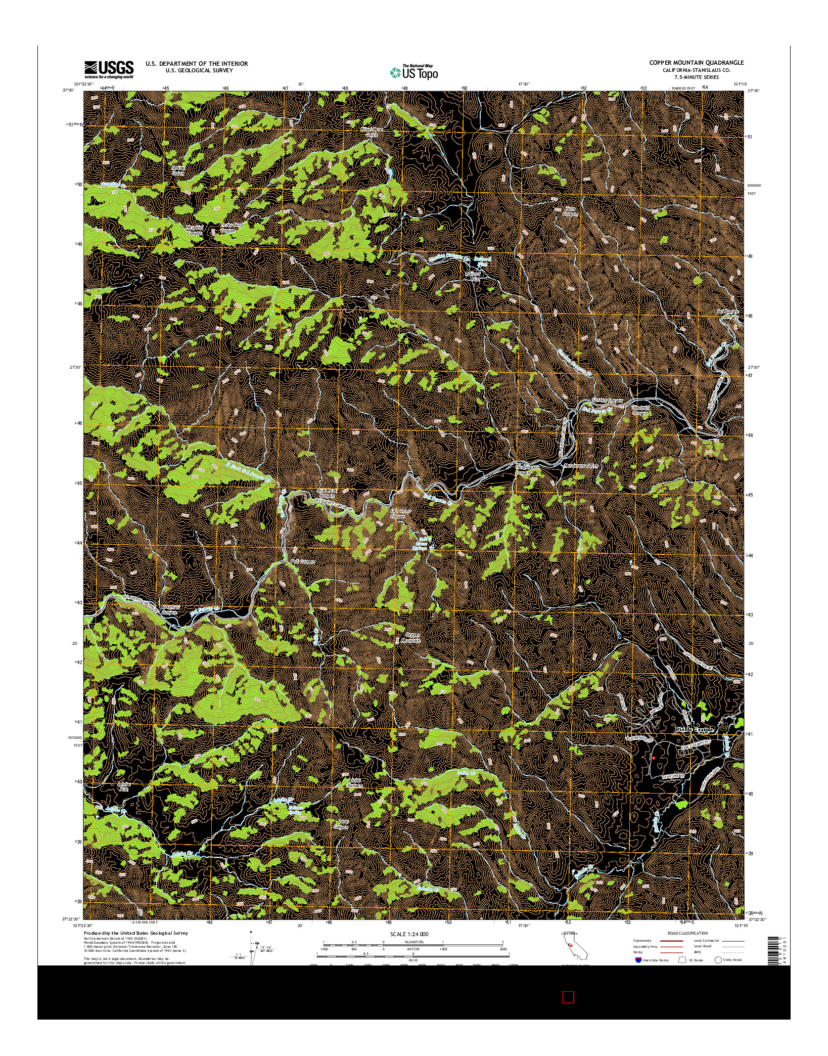 USGS US TOPO 7.5-MINUTE MAP FOR COPPER MOUNTAIN, CA 2015