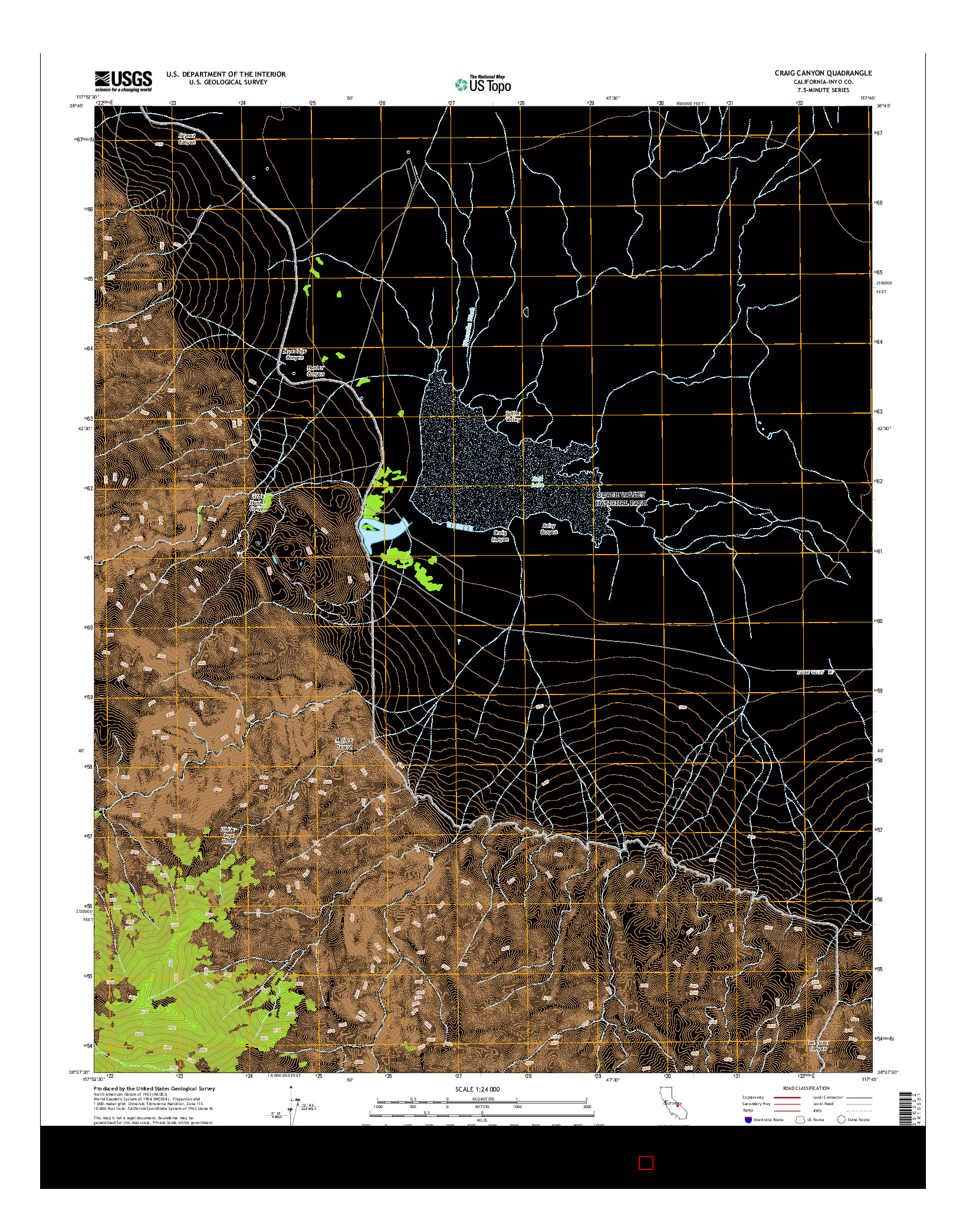 USGS US TOPO 7.5-MINUTE MAP FOR CRAIG CANYON, CA 2015