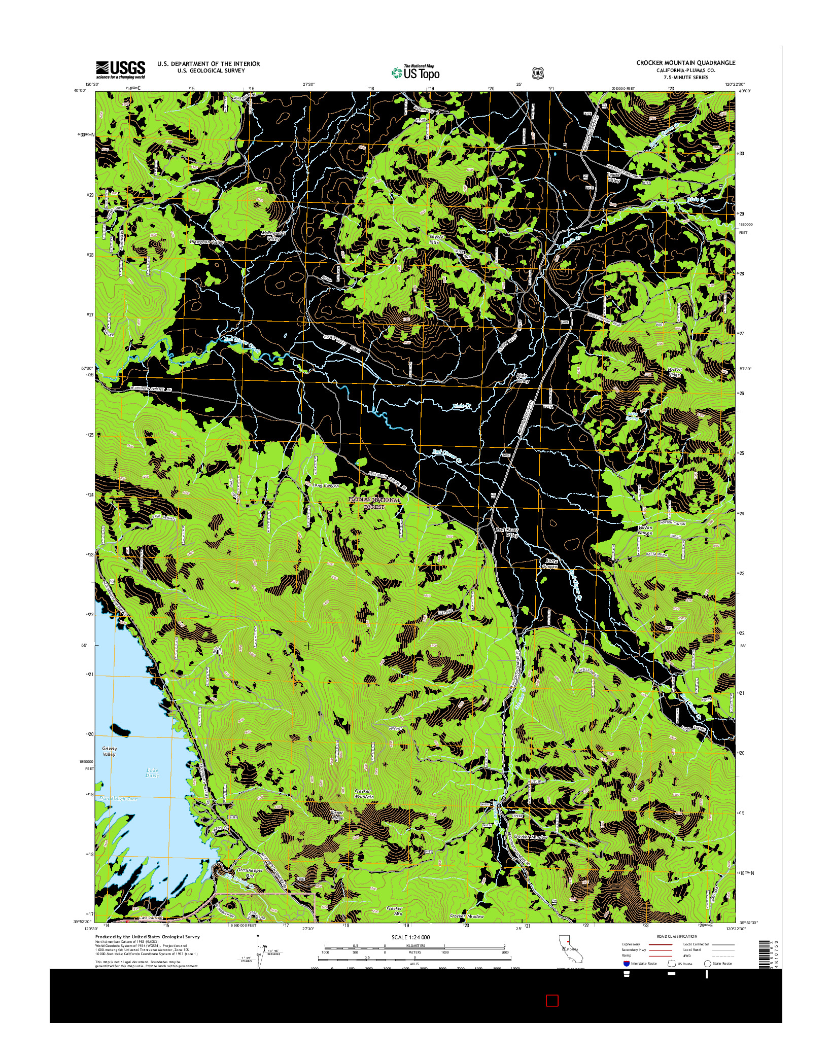 USGS US TOPO 7.5-MINUTE MAP FOR CROCKER MOUNTAIN, CA 2015