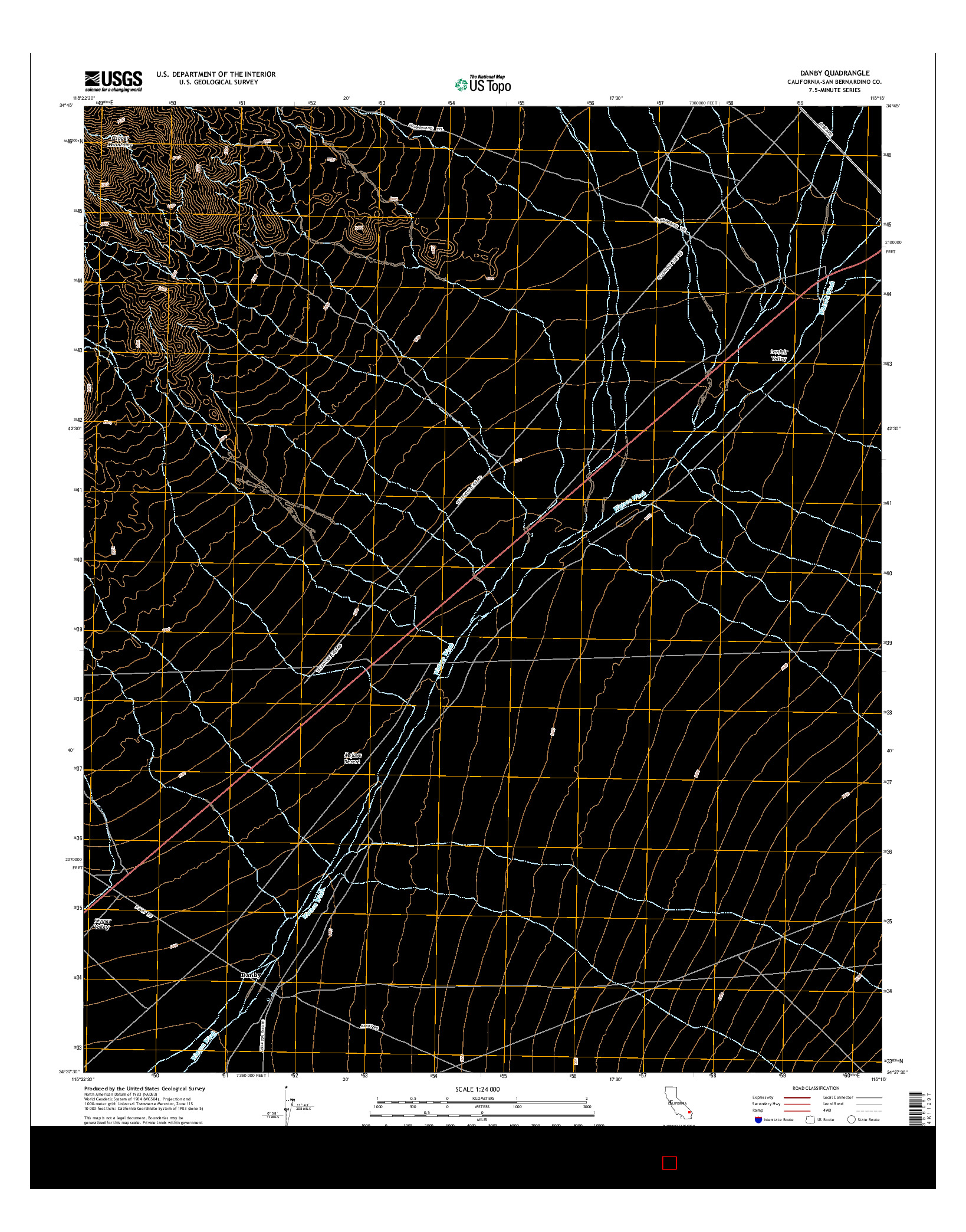 USGS US TOPO 7.5-MINUTE MAP FOR DANBY, CA 2015