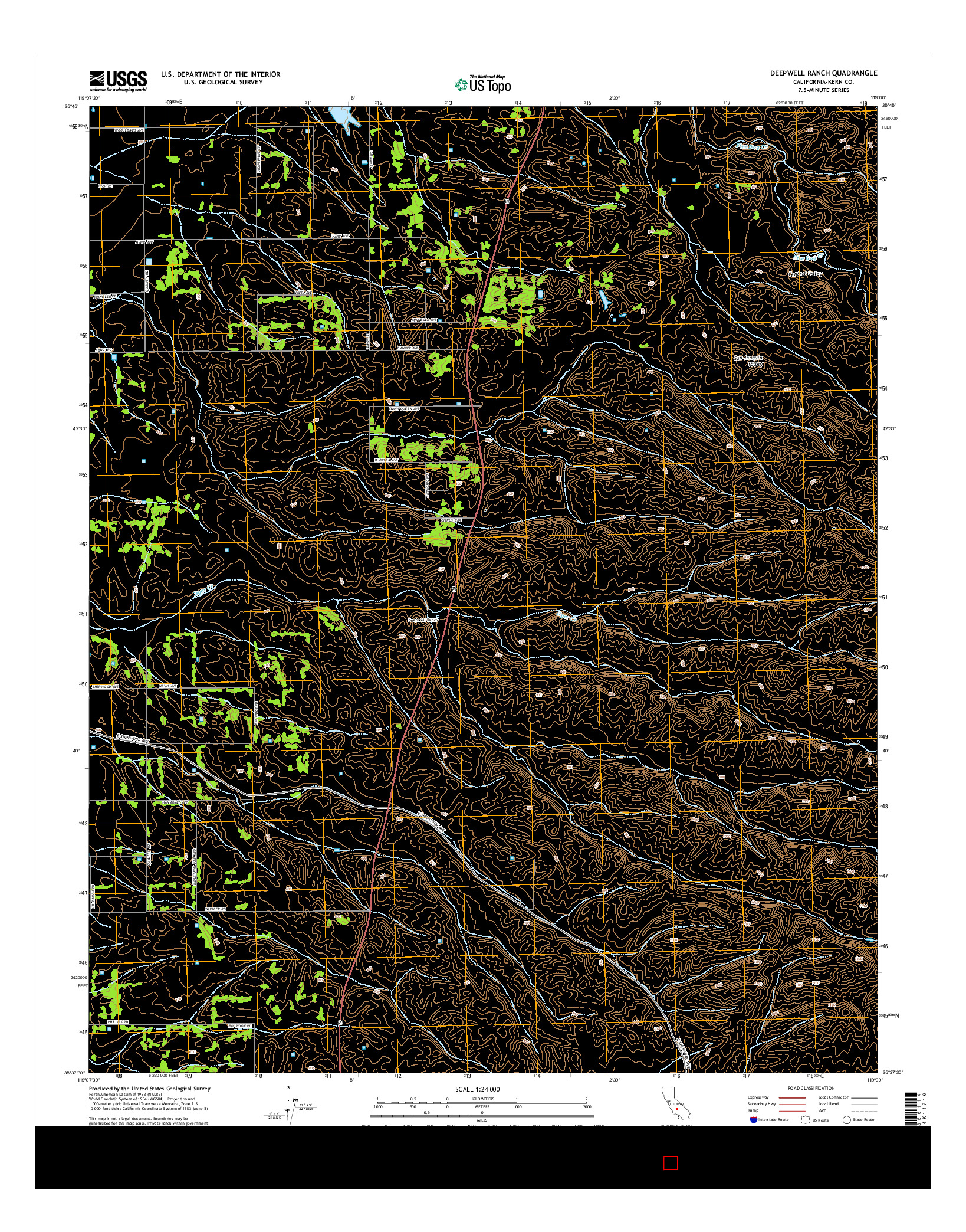 USGS US TOPO 7.5-MINUTE MAP FOR DEEPWELL RANCH, CA 2015