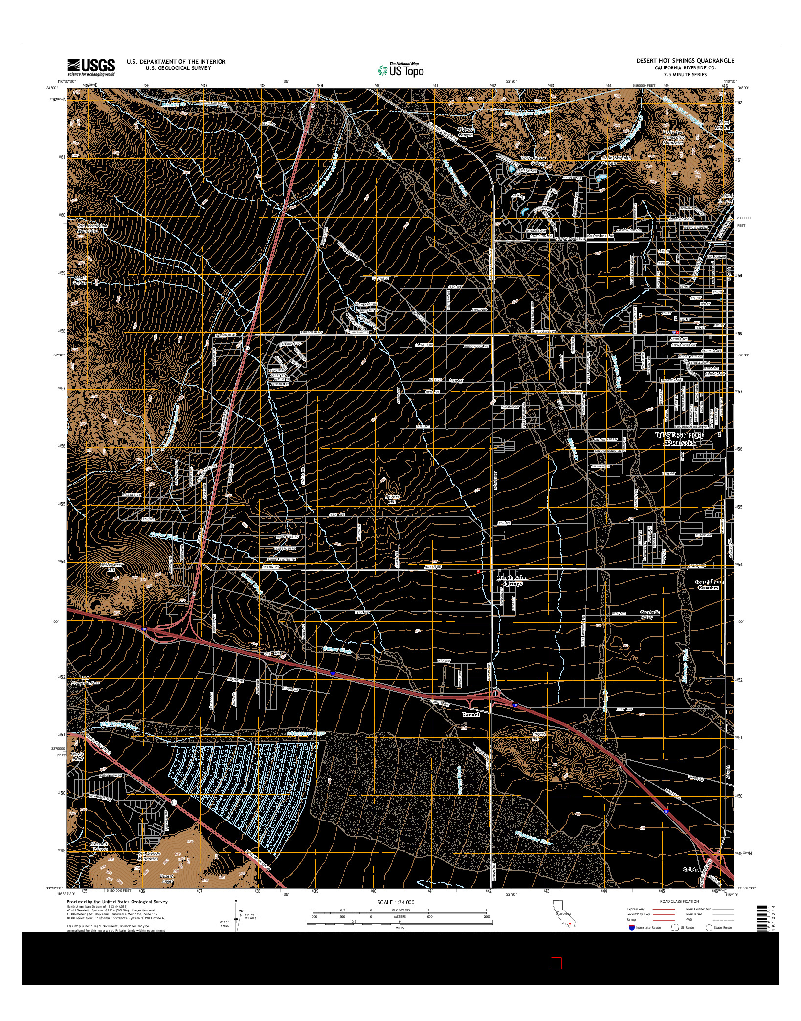 USGS US TOPO 7.5-MINUTE MAP FOR DESERT HOT SPRINGS, CA 2015