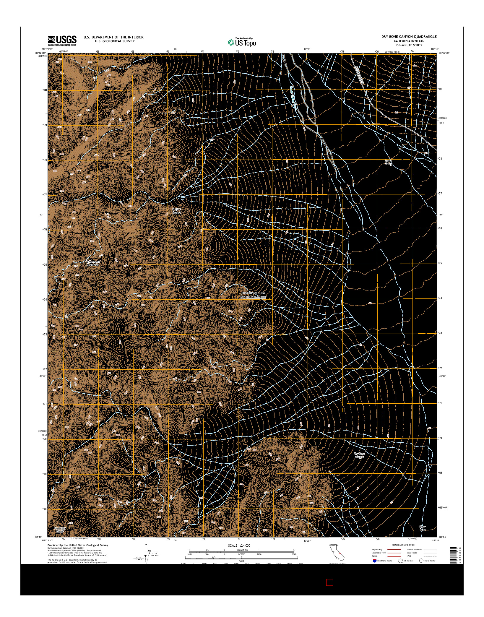 USGS US TOPO 7.5-MINUTE MAP FOR DRY BONE CANYON, CA 2015