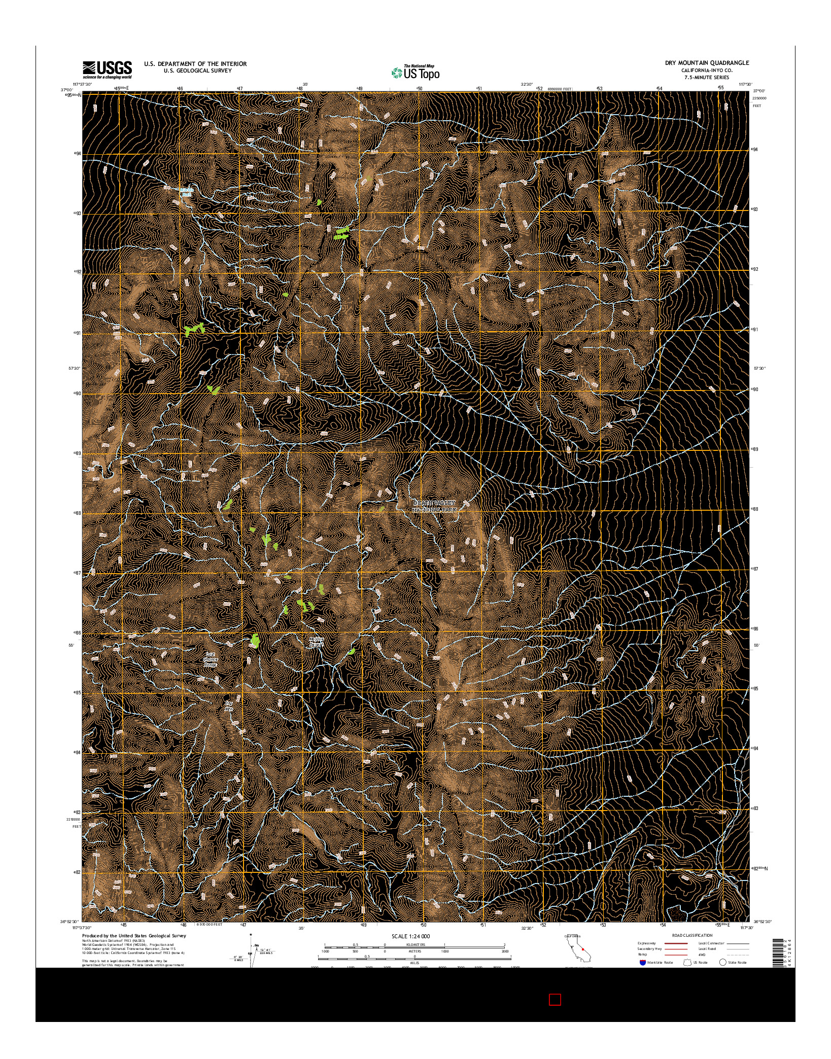 USGS US TOPO 7.5-MINUTE MAP FOR DRY MOUNTAIN, CA 2015