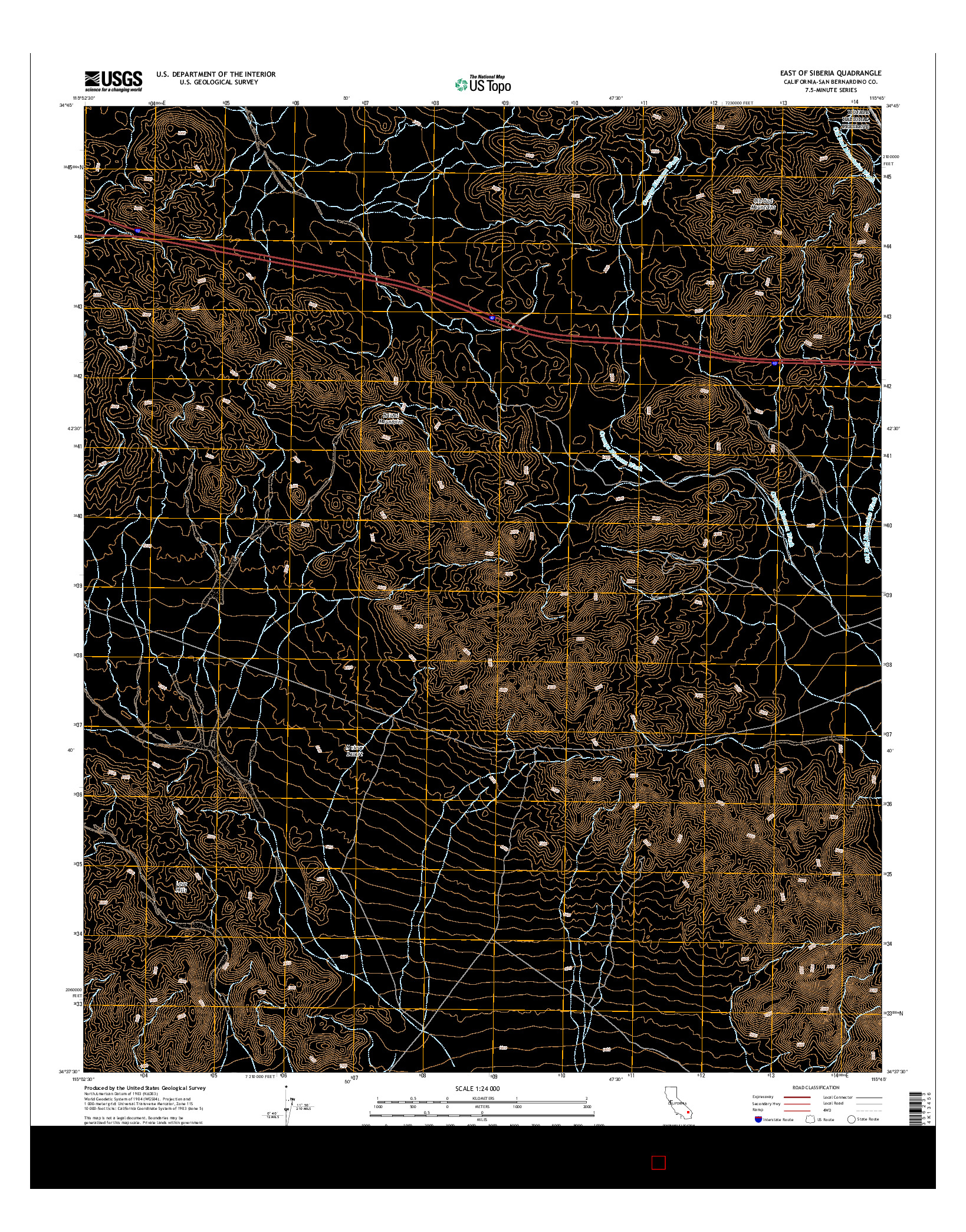 USGS US TOPO 7.5-MINUTE MAP FOR EAST OF SIBERIA, CA 2015
