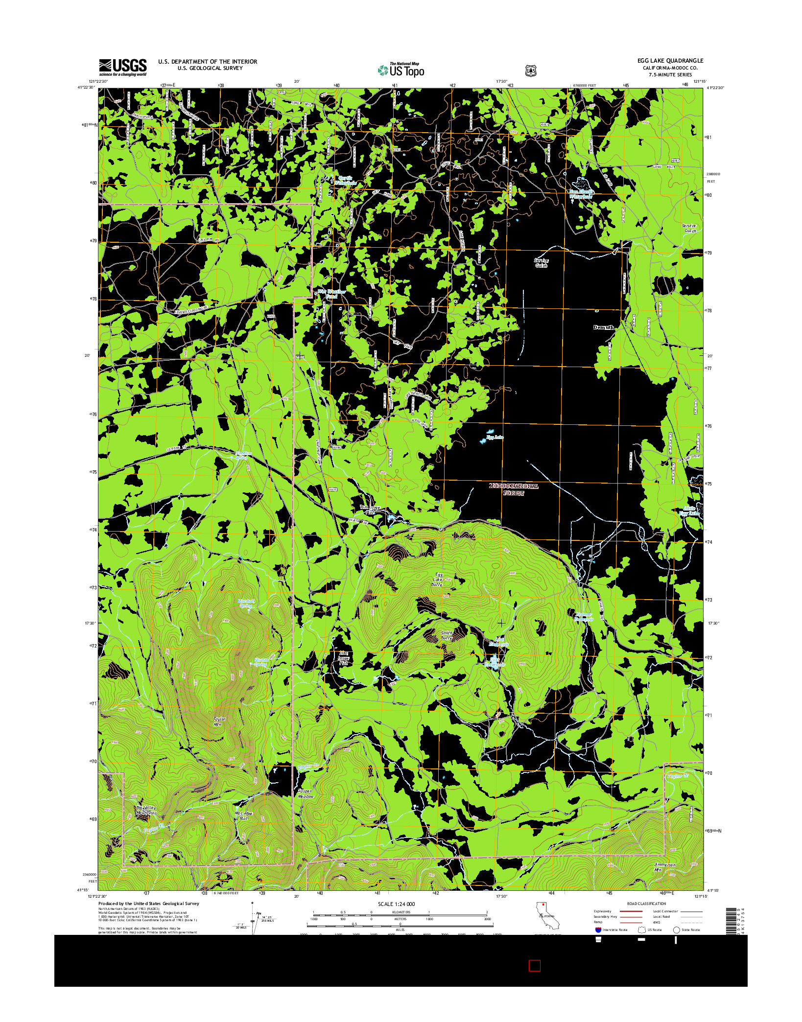 USGS US TOPO 7.5-MINUTE MAP FOR EGG LAKE, CA 2015