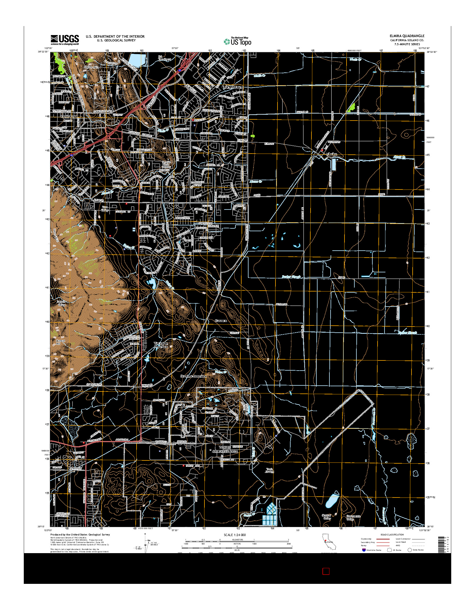 USGS US TOPO 7.5-MINUTE MAP FOR ELMIRA, CA 2015