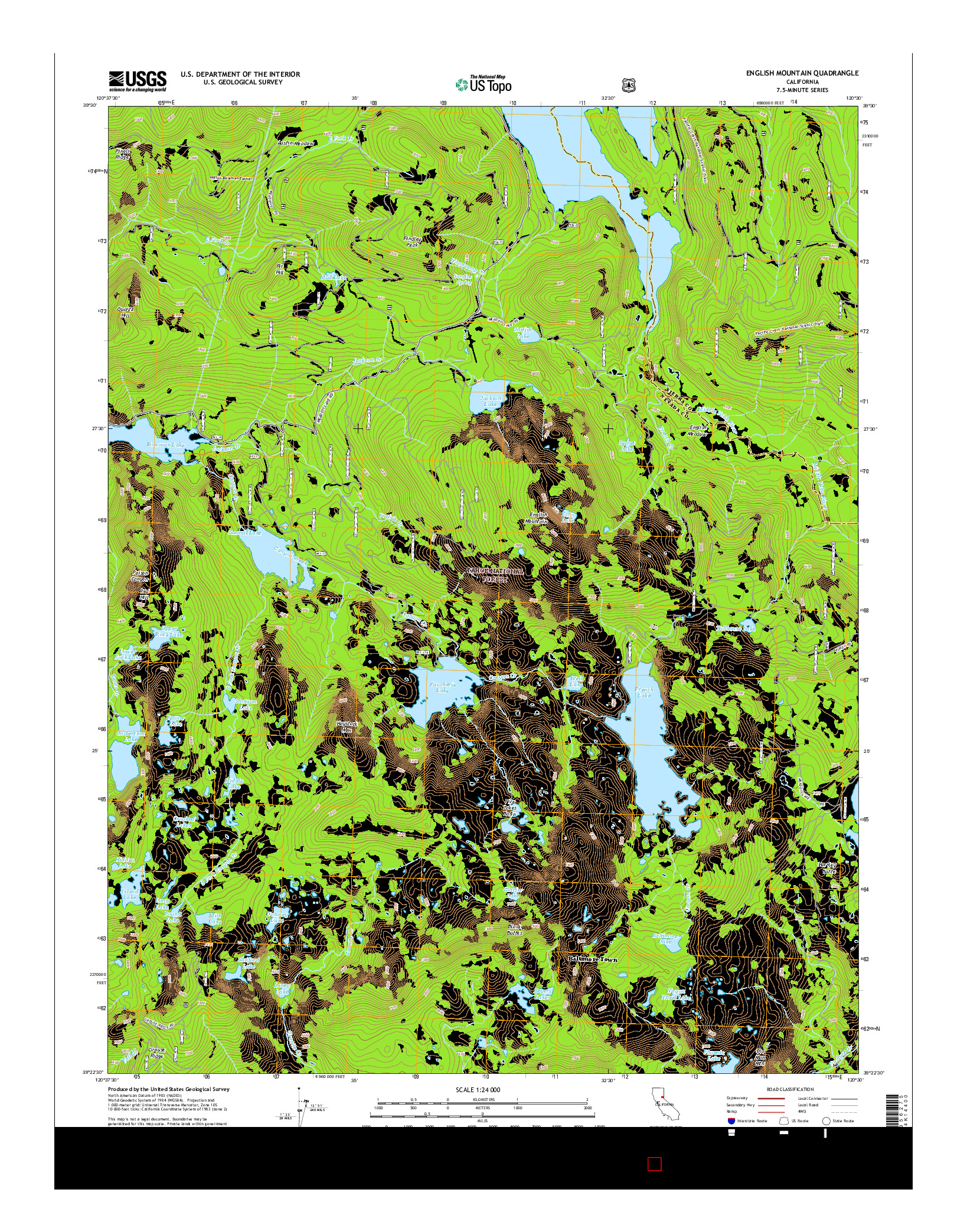 USGS US TOPO 7.5-MINUTE MAP FOR ENGLISH MOUNTAIN, CA 2015