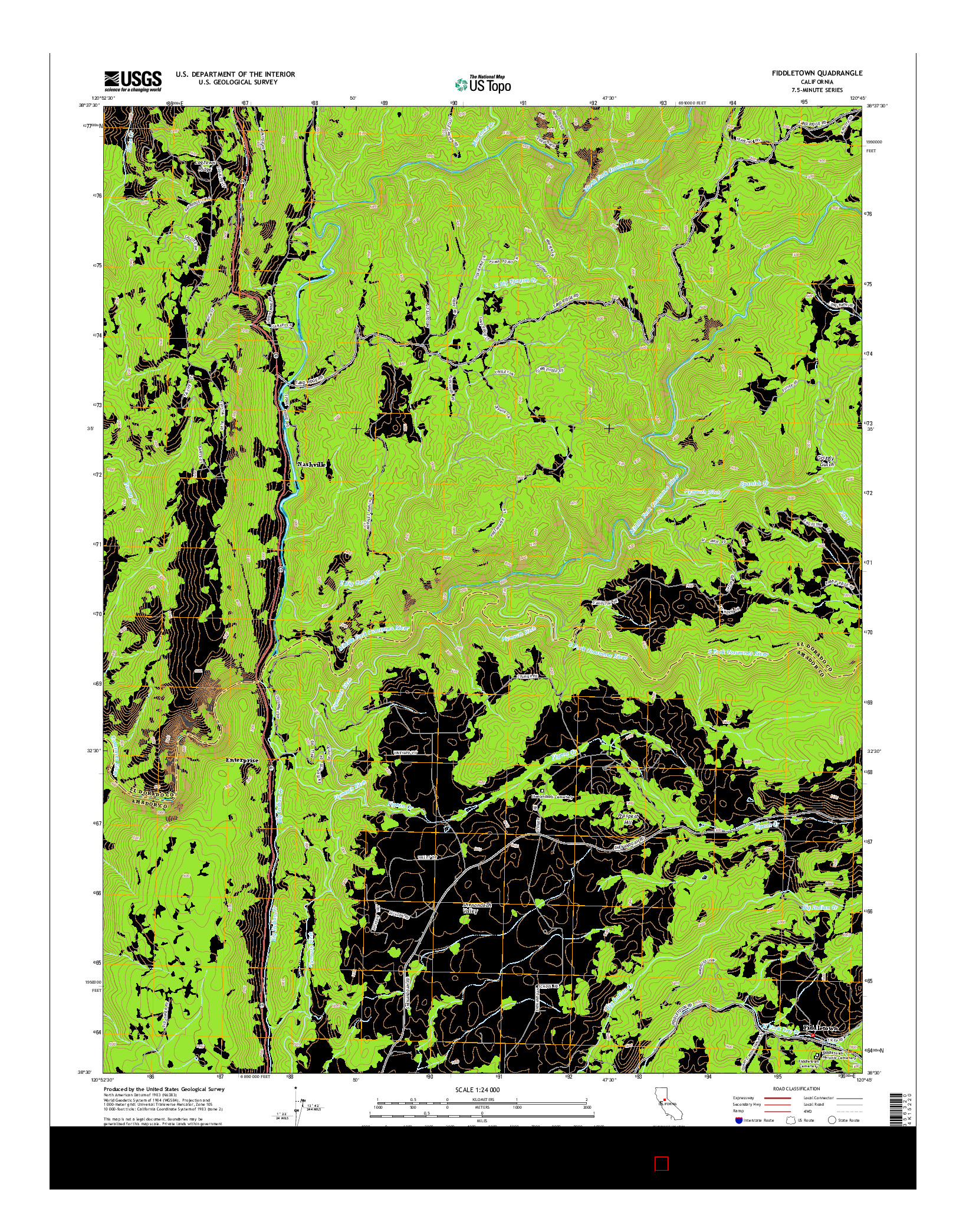 USGS US TOPO 7.5-MINUTE MAP FOR FIDDLETOWN, CA 2015