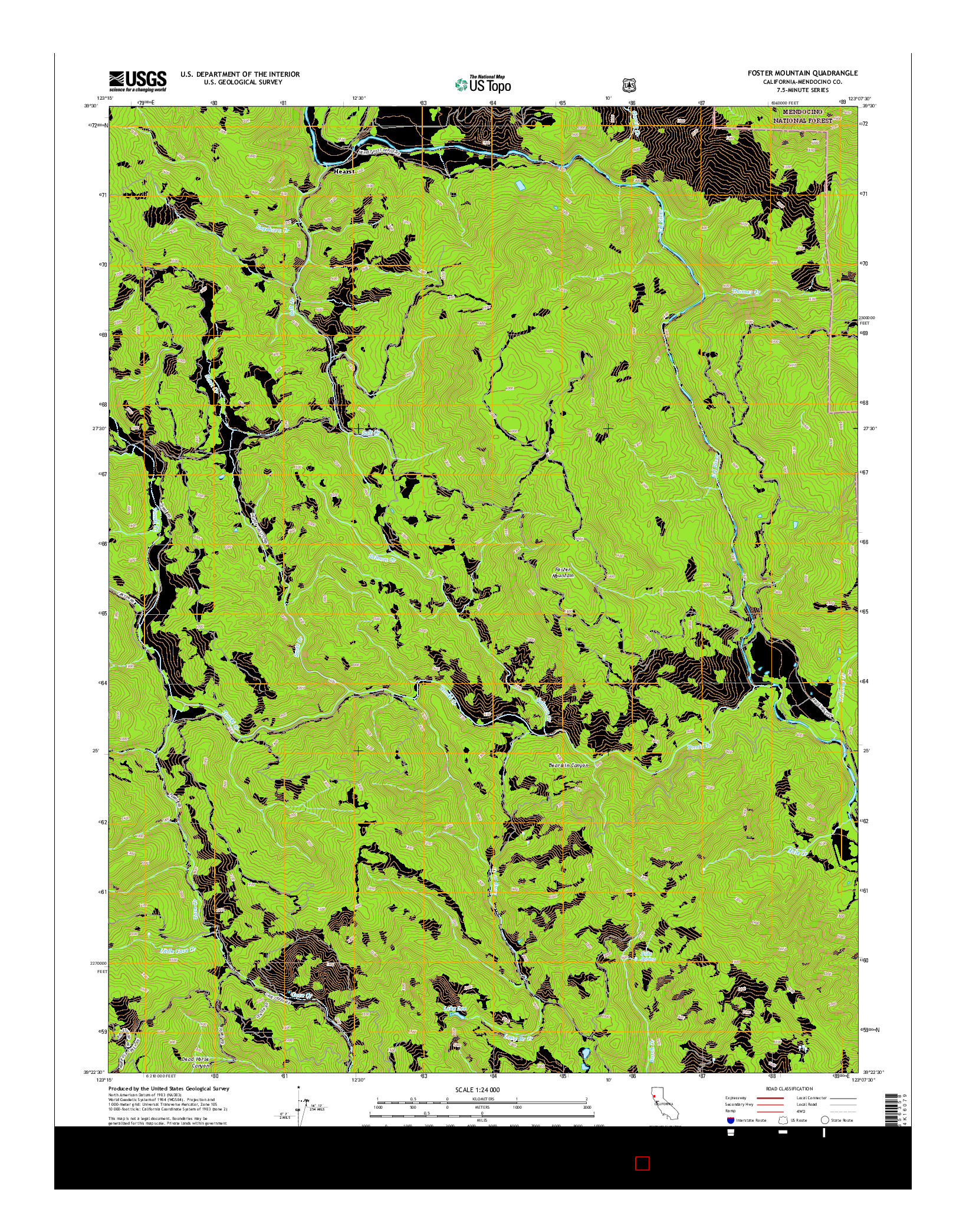 USGS US TOPO 7.5-MINUTE MAP FOR FOSTER MOUNTAIN, CA 2015