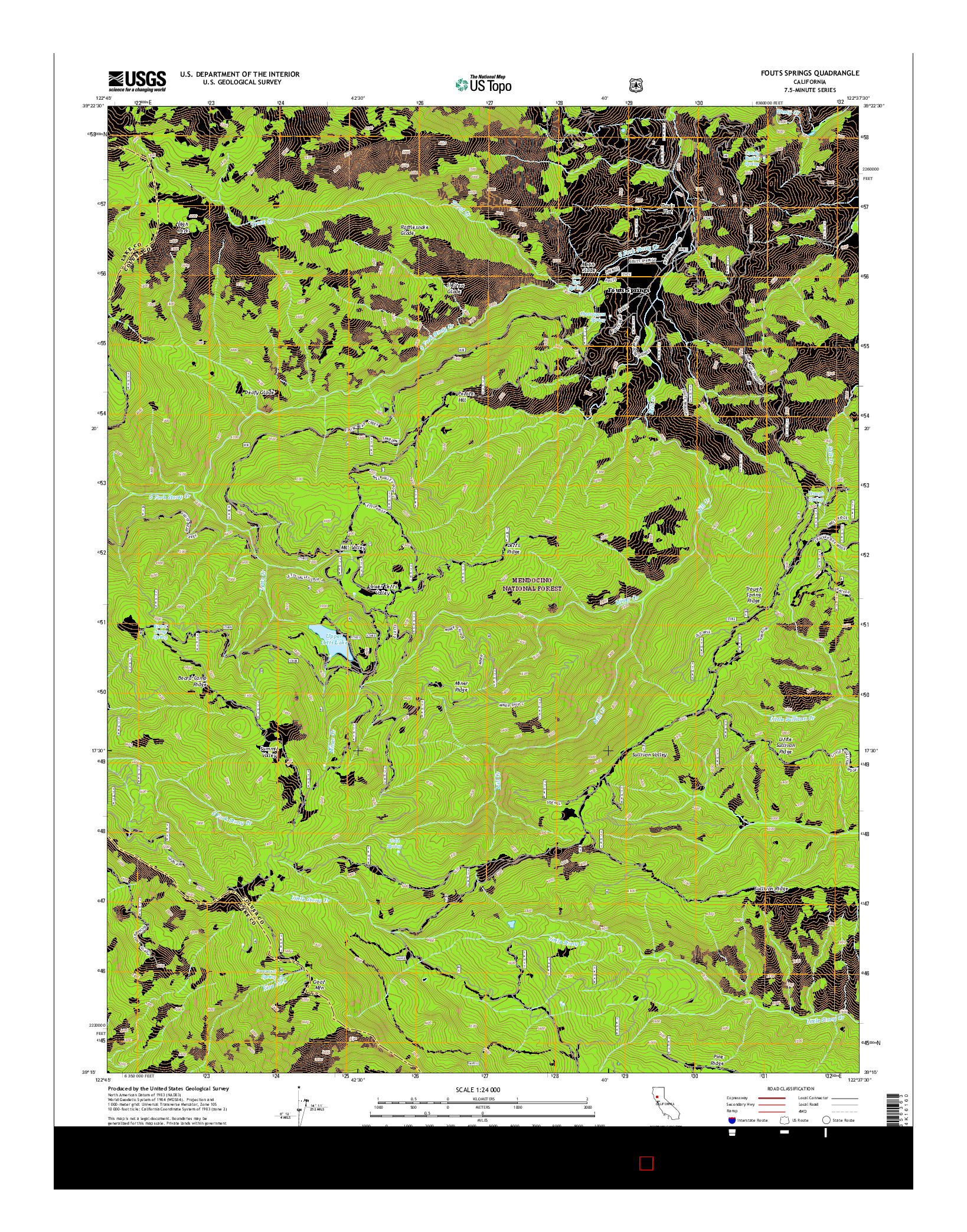 USGS US TOPO 7.5-MINUTE MAP FOR FOUTS SPRINGS, CA 2015