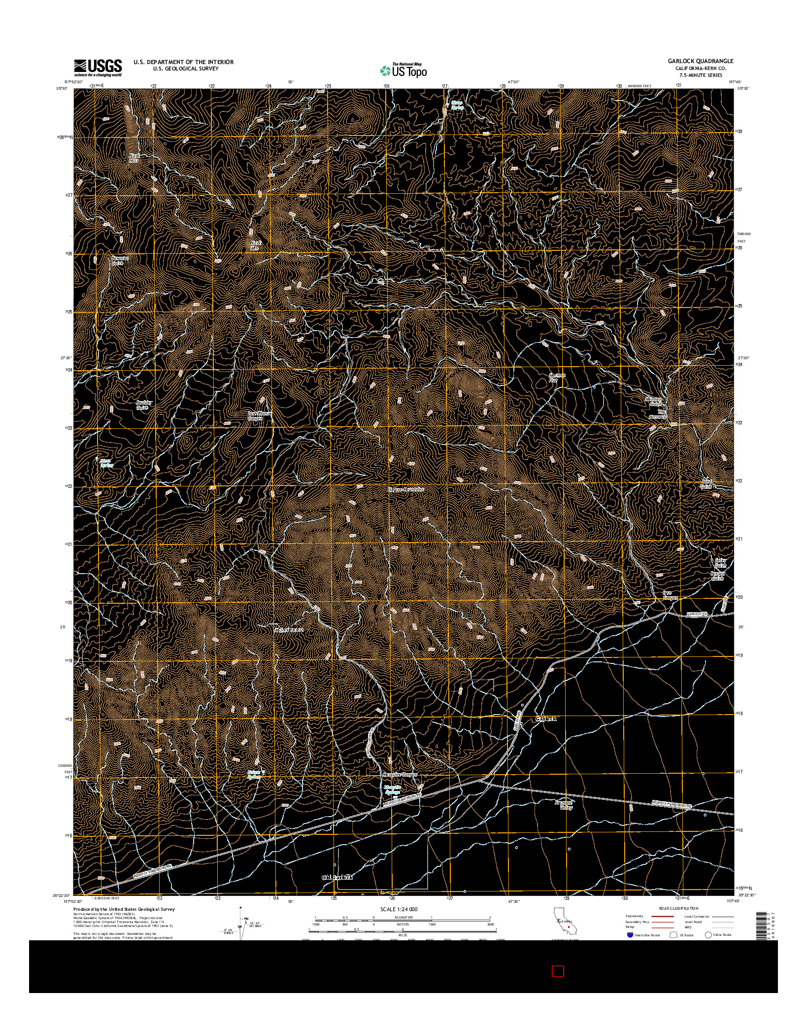 USGS US TOPO 7.5-MINUTE MAP FOR GARLOCK, CA 2015