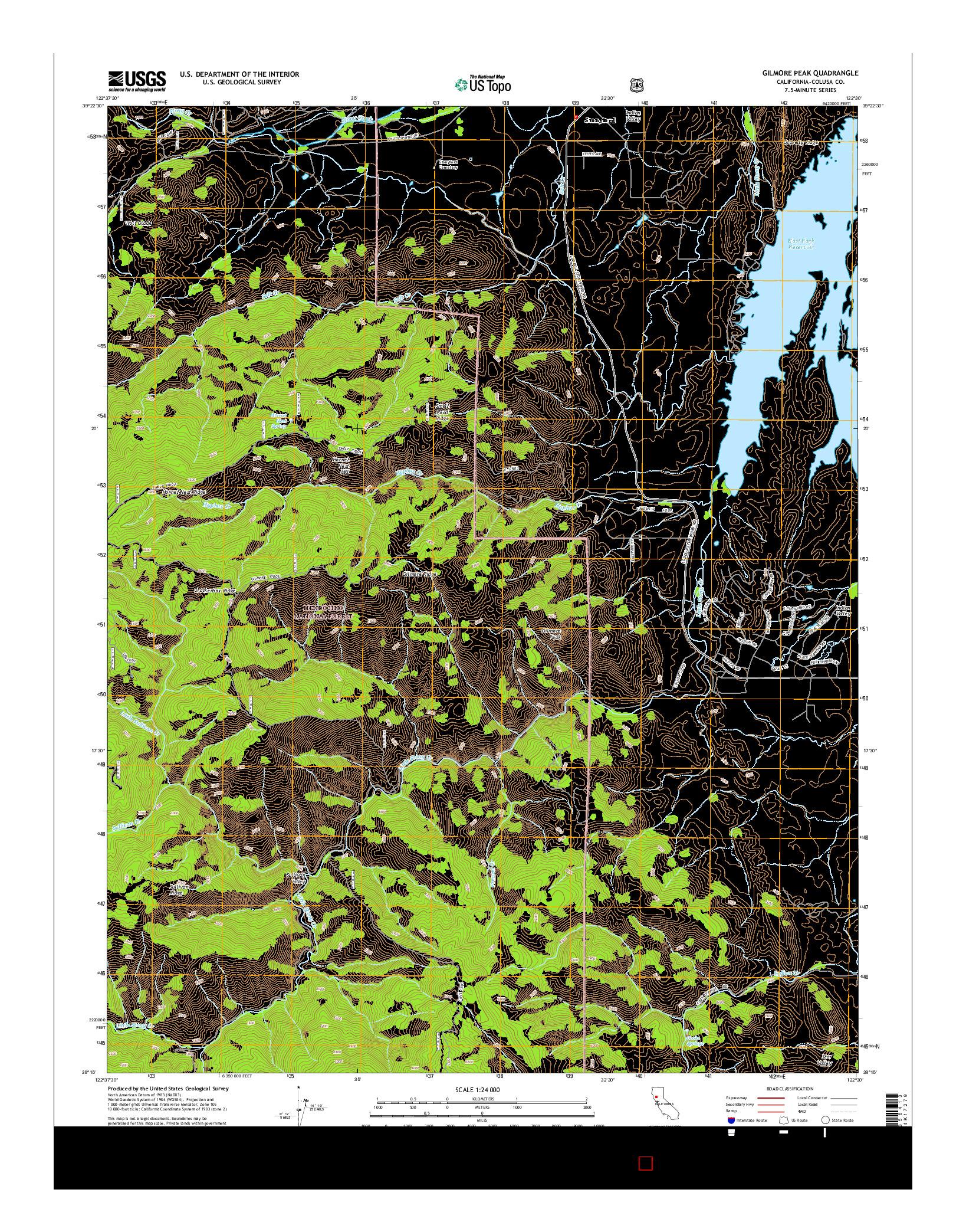 USGS US TOPO 7.5-MINUTE MAP FOR GILMORE PEAK, CA 2015