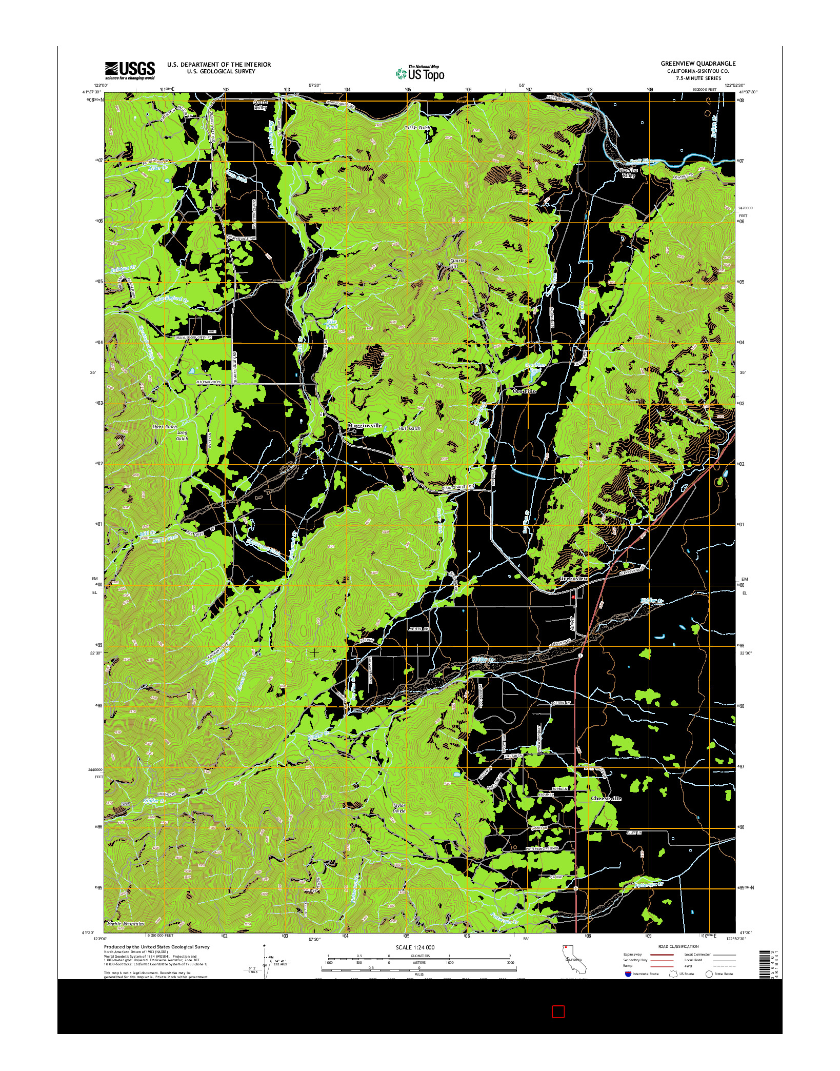 USGS US TOPO 7.5-MINUTE MAP FOR GREENVIEW, CA 2015