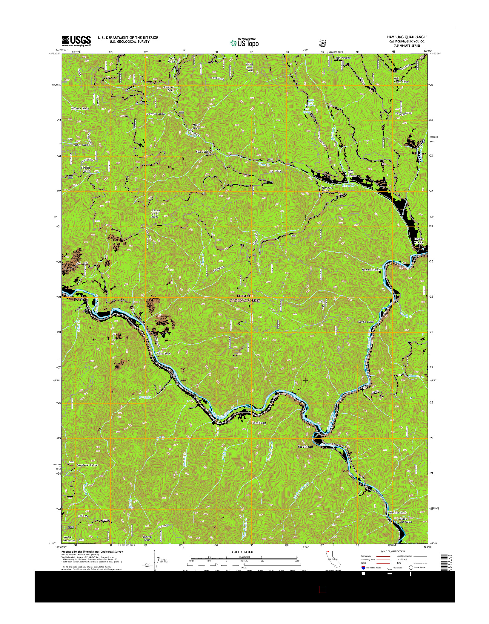 USGS US TOPO 7.5-MINUTE MAP FOR HAMBURG, CA 2015