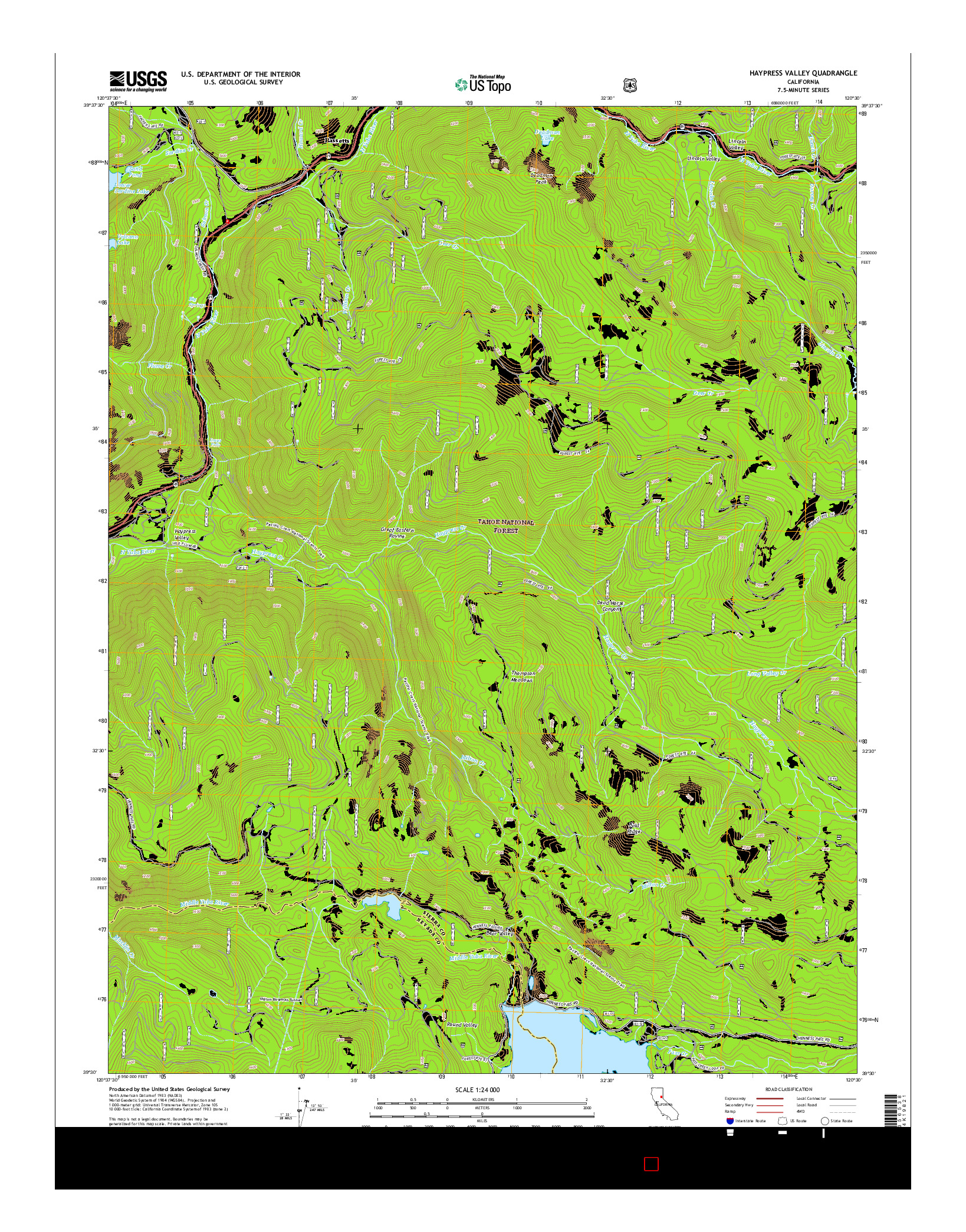 USGS US TOPO 7.5-MINUTE MAP FOR HAYPRESS VALLEY, CA 2015
