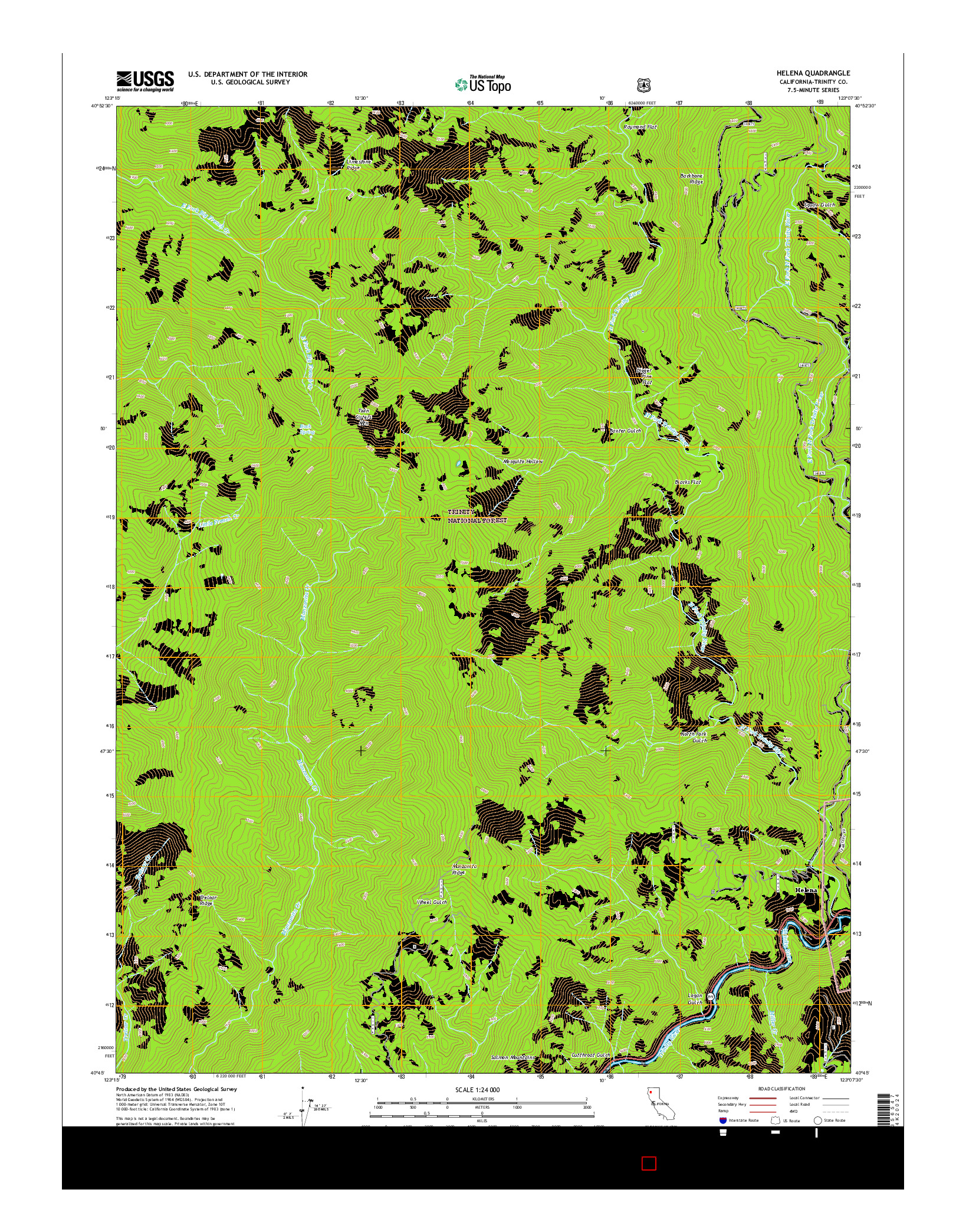 USGS US TOPO 7.5-MINUTE MAP FOR HELENA, CA 2015