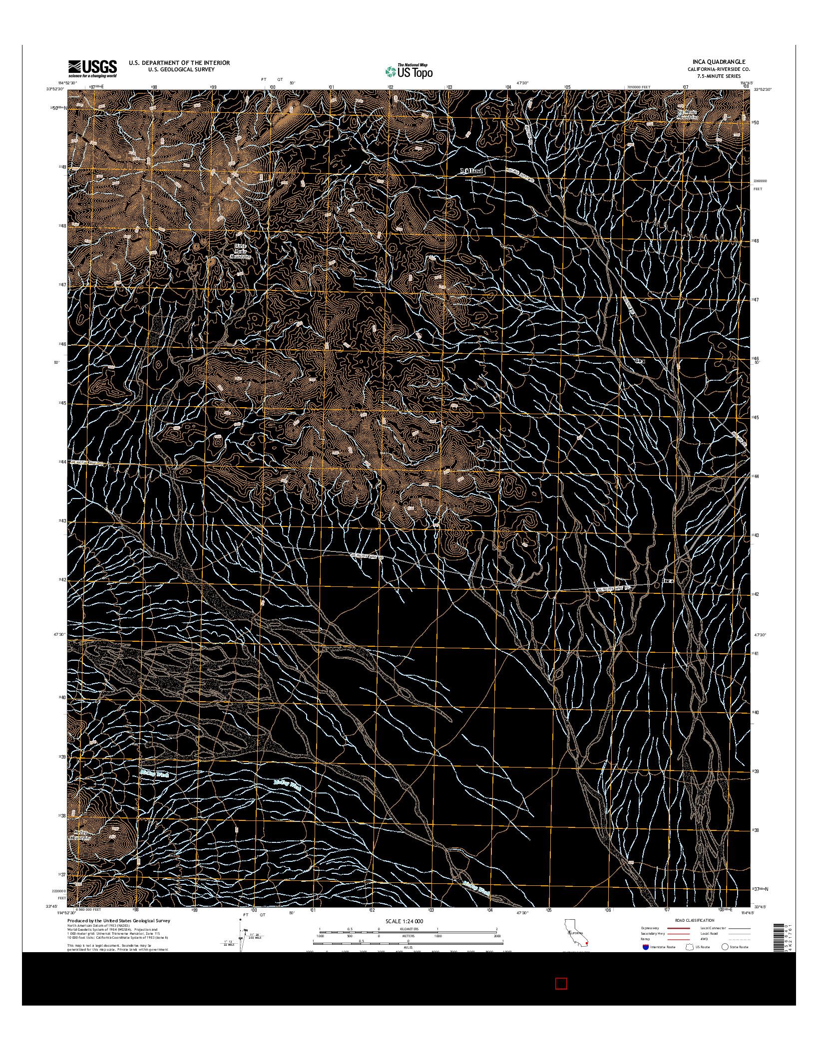 USGS US TOPO 7.5-MINUTE MAP FOR INCA, CA 2015