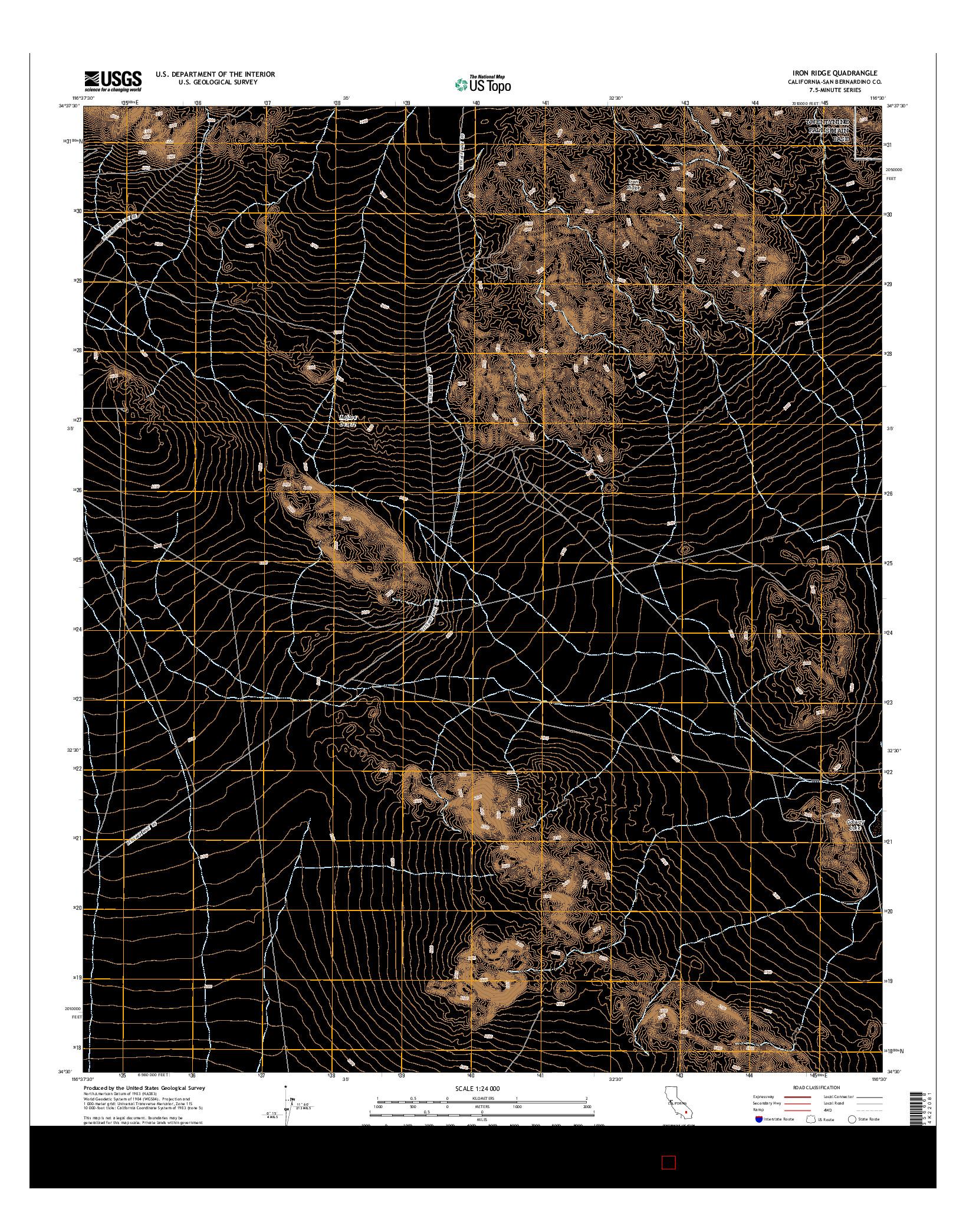 USGS US TOPO 7.5-MINUTE MAP FOR IRON RIDGE, CA 2015