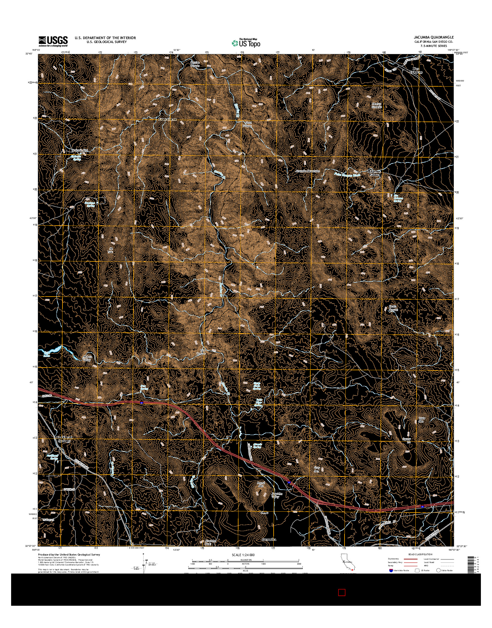 USGS US TOPO 7.5-MINUTE MAP FOR JACUMBA, CA 2015