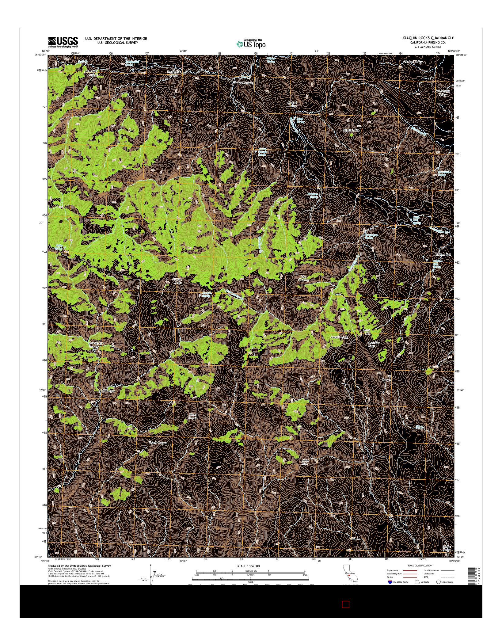 USGS US TOPO 7.5-MINUTE MAP FOR JOAQUIN ROCKS, CA 2015
