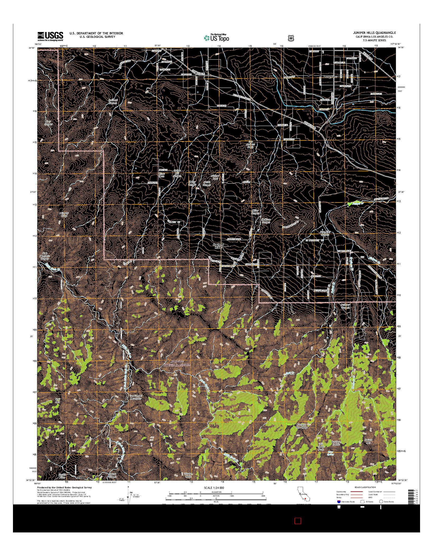 USGS US TOPO 7.5-MINUTE MAP FOR JUNIPER HILLS, CA 2015