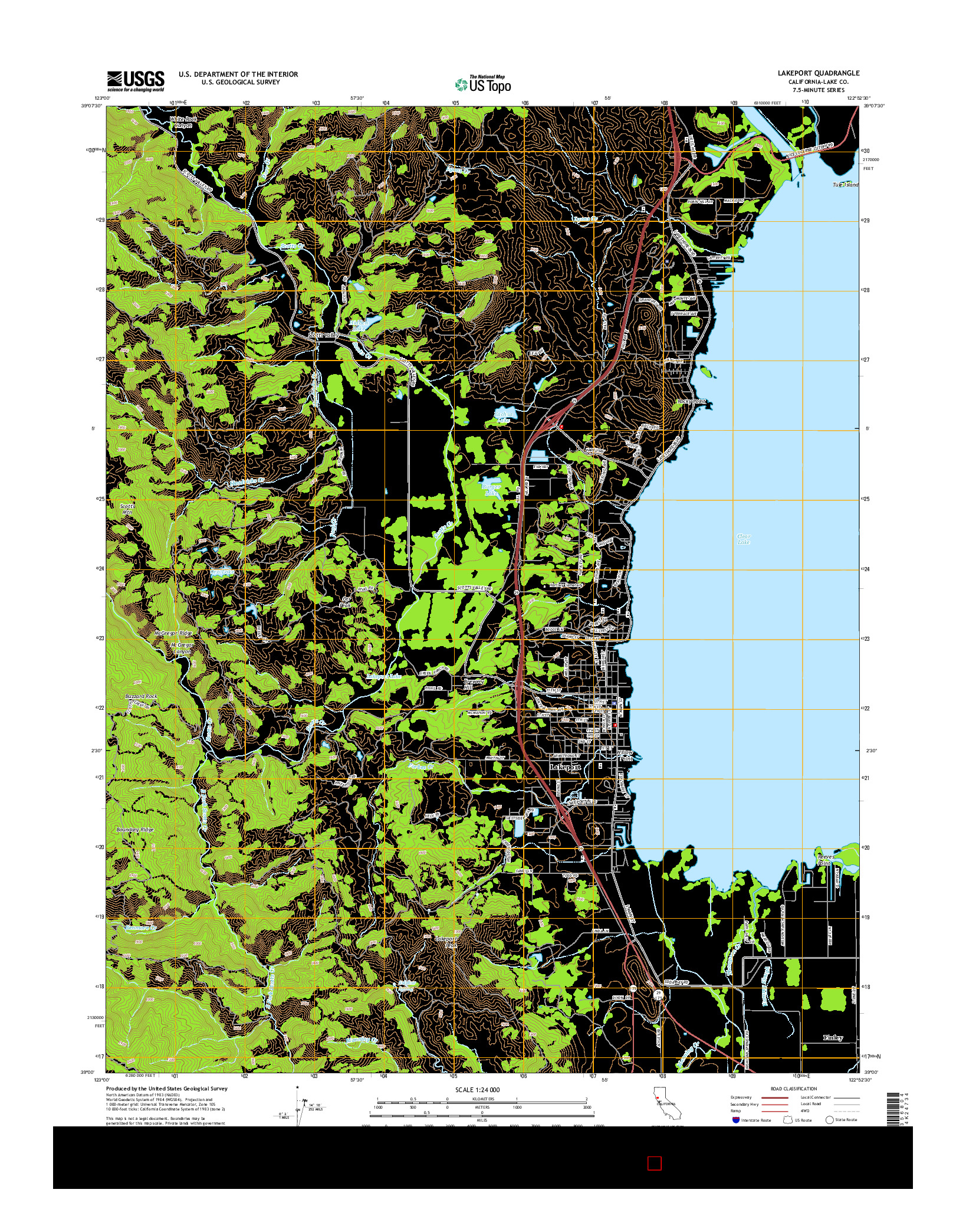 USGS US TOPO 7.5-MINUTE MAP FOR LAKEPORT, CA 2015
