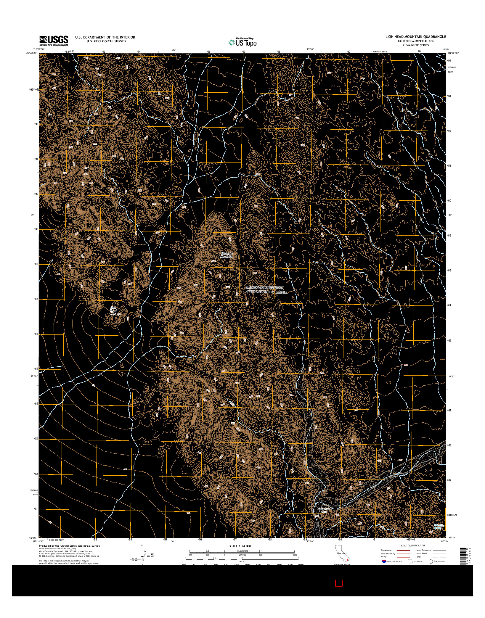 USGS US TOPO 7.5-MINUTE MAP FOR LION HEAD MOUNTAIN, CA 2015