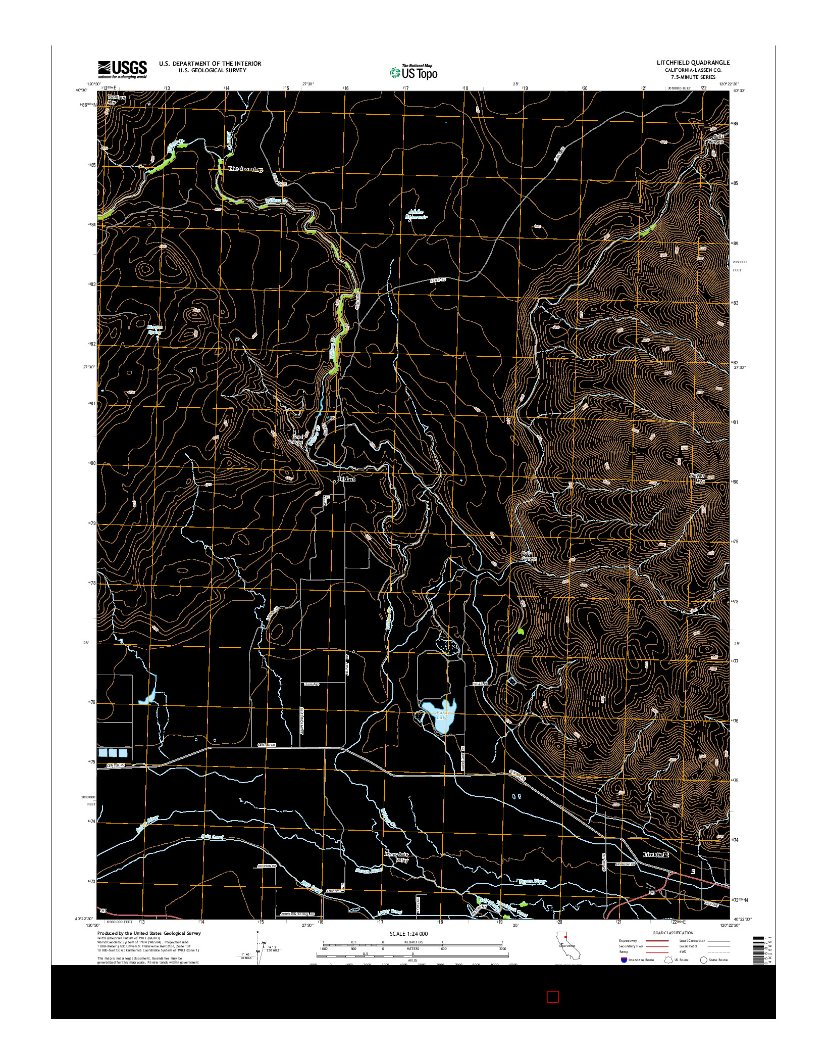 USGS US TOPO 7.5-MINUTE MAP FOR LITCHFIELD, CA 2015