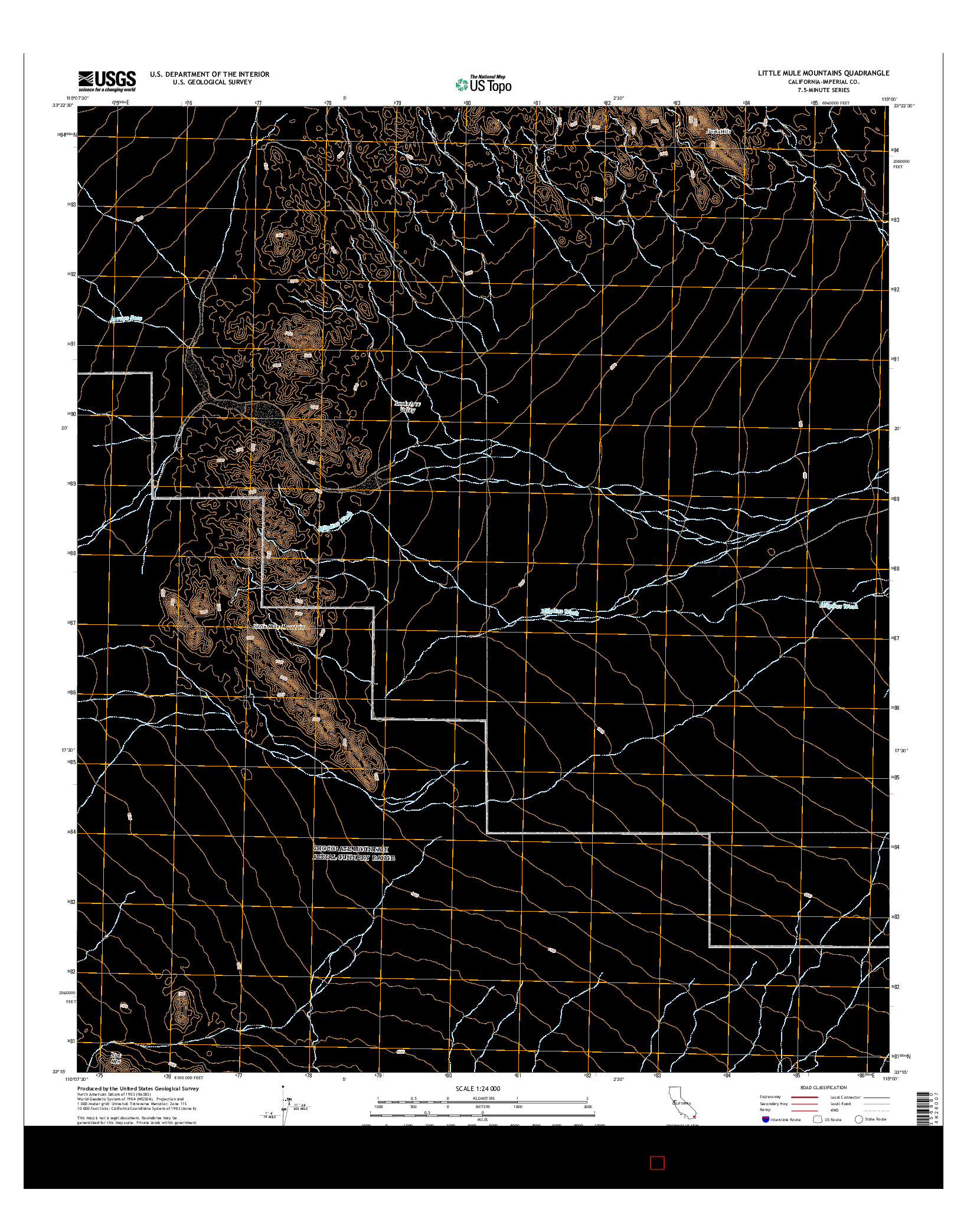USGS US TOPO 7.5-MINUTE MAP FOR LITTLE MULE MOUNTAINS, CA 2015