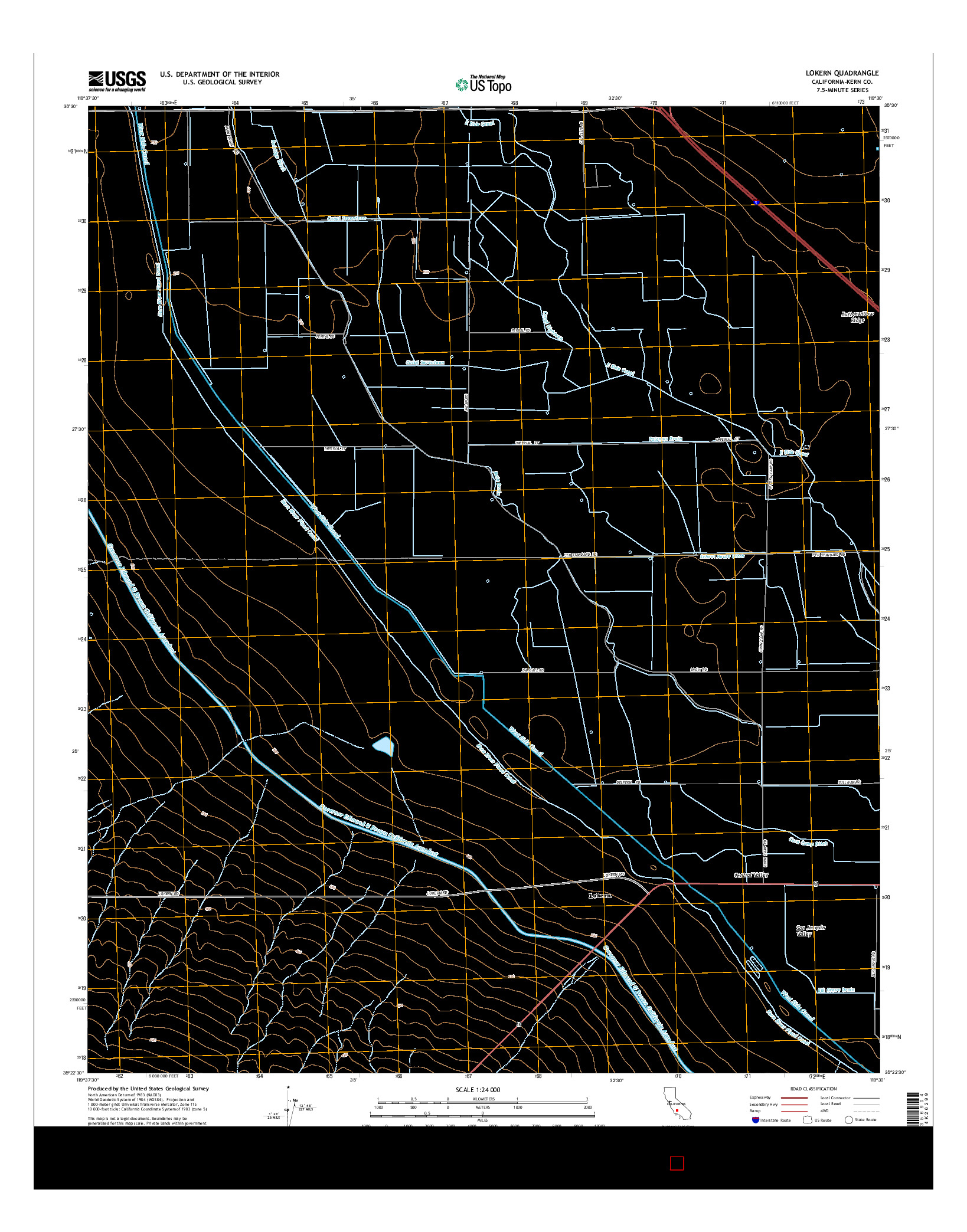 USGS US TOPO 7.5-MINUTE MAP FOR LOKERN, CA 2015