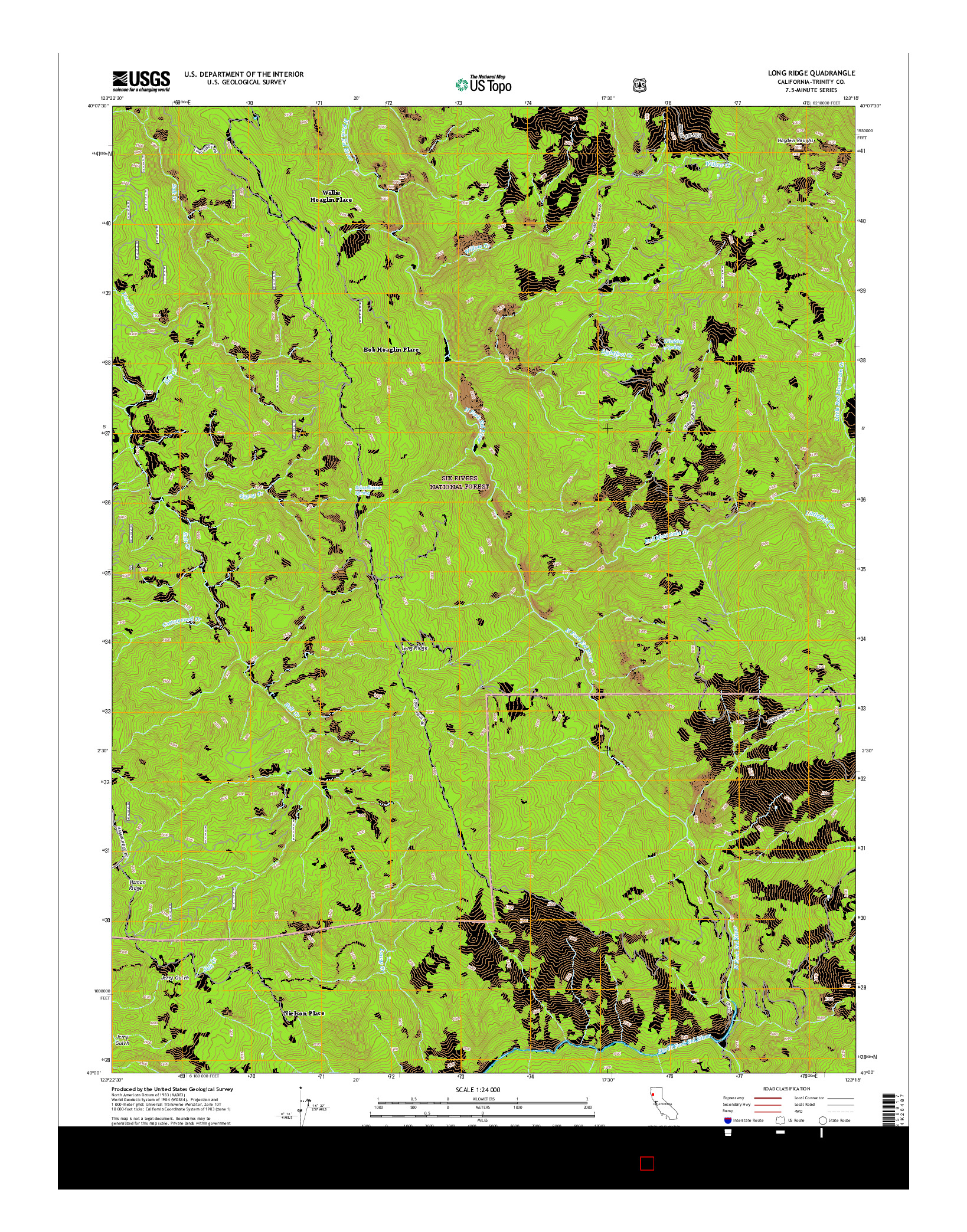 USGS US TOPO 7.5-MINUTE MAP FOR LONG RIDGE, CA 2015