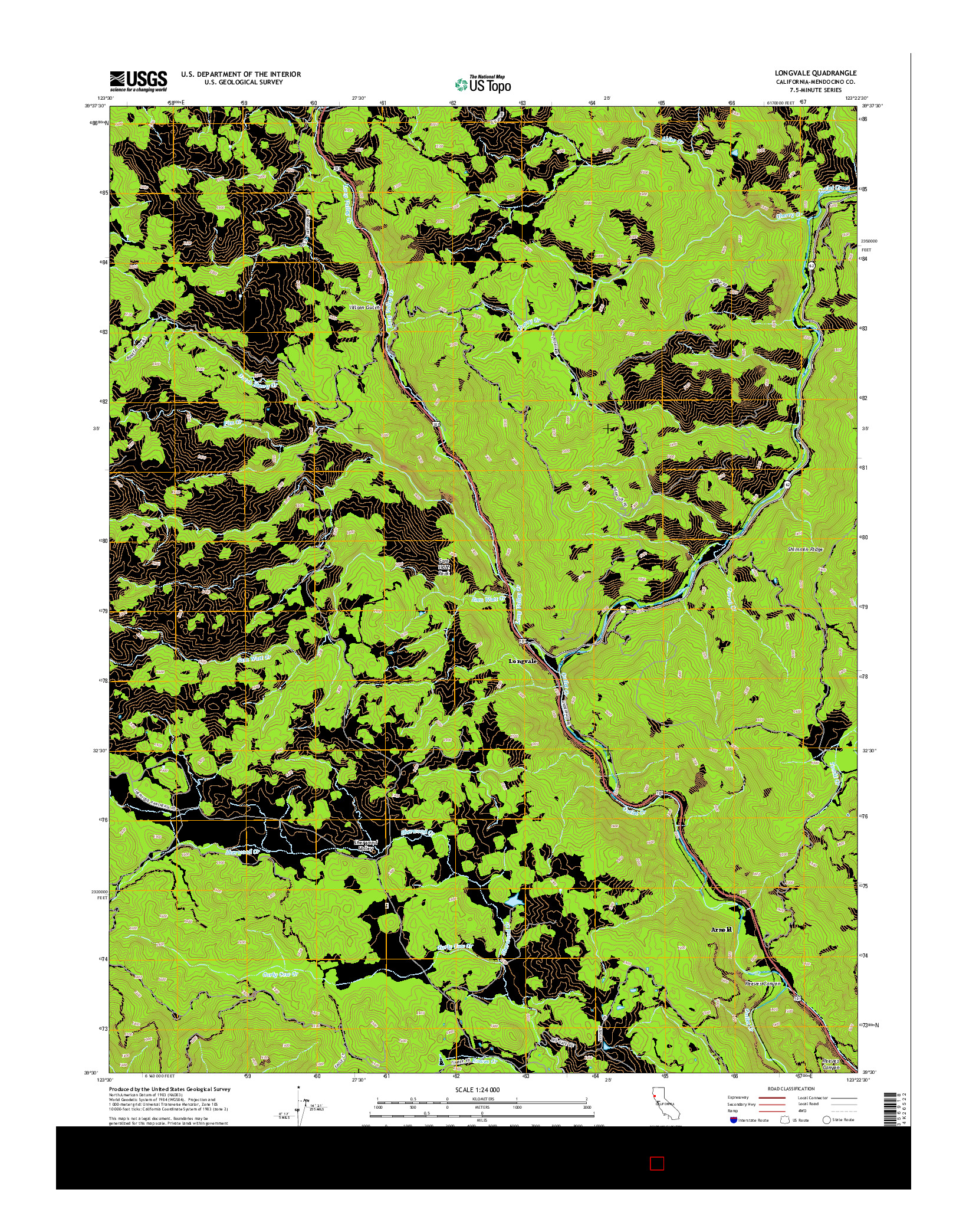 USGS US TOPO 7.5-MINUTE MAP FOR LONGVALE, CA 2015