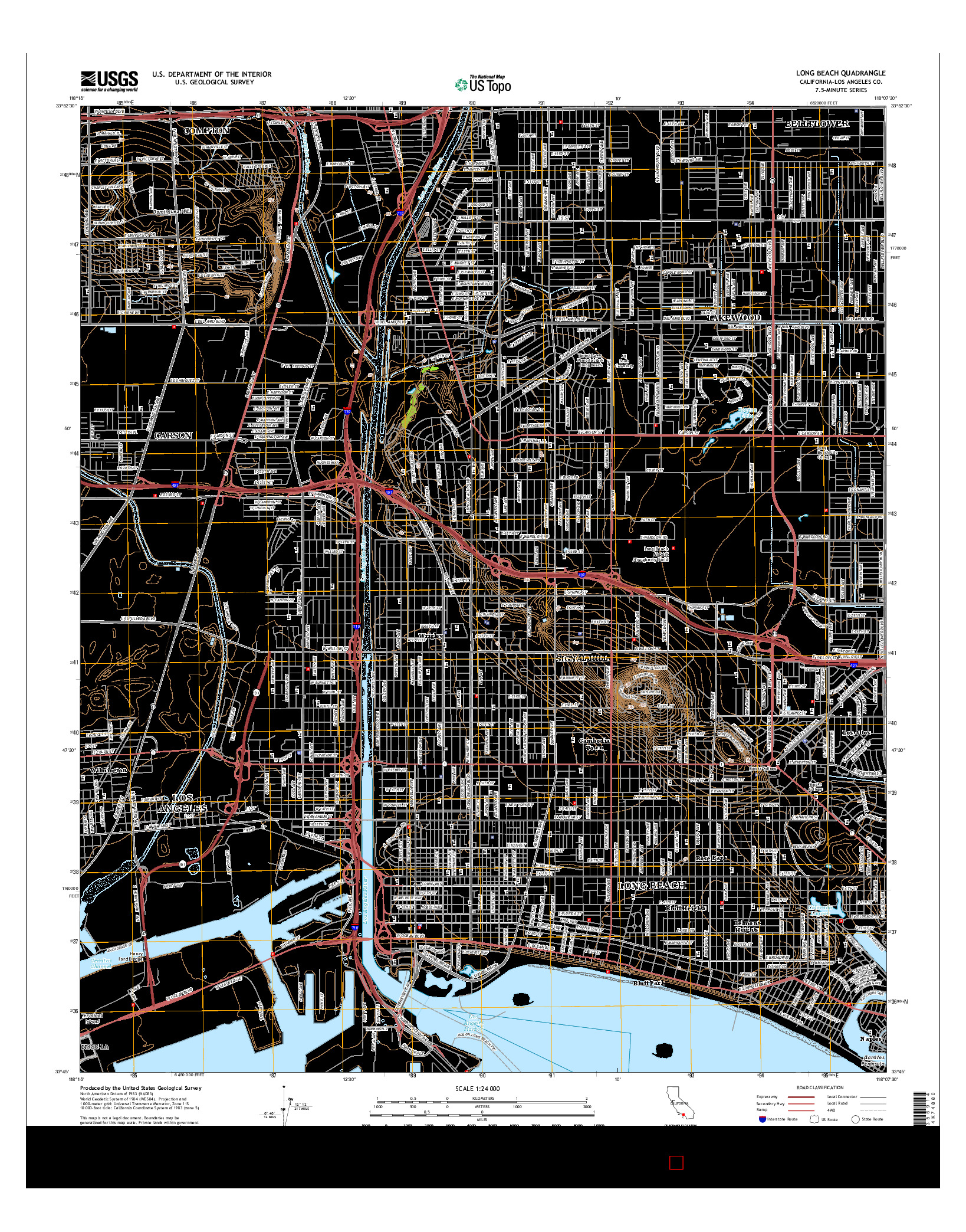 USGS US TOPO 7.5-MINUTE MAP FOR LONG BEACH, CA 2015