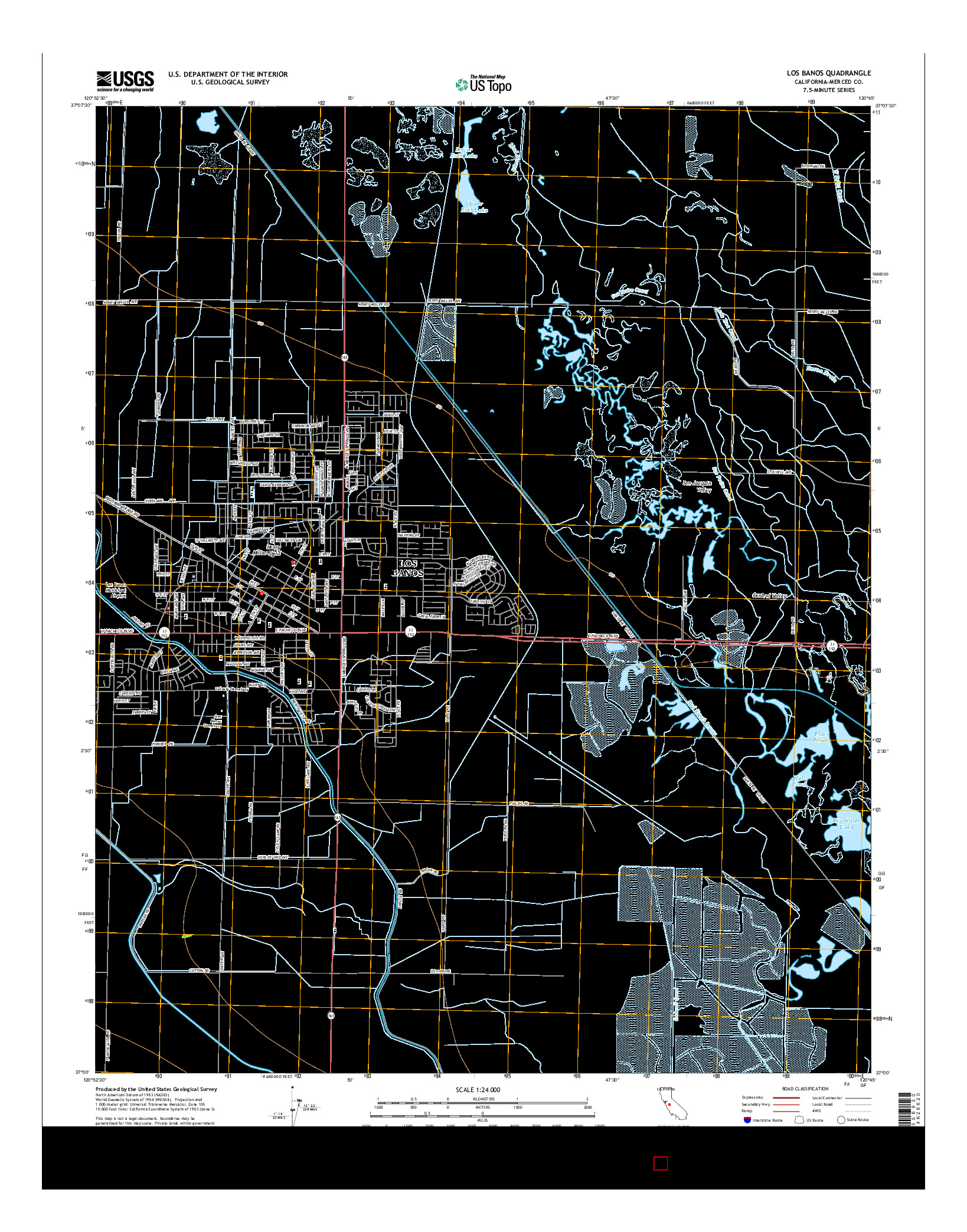 USGS US TOPO 7.5-MINUTE MAP FOR LOS BANOS, CA 2015