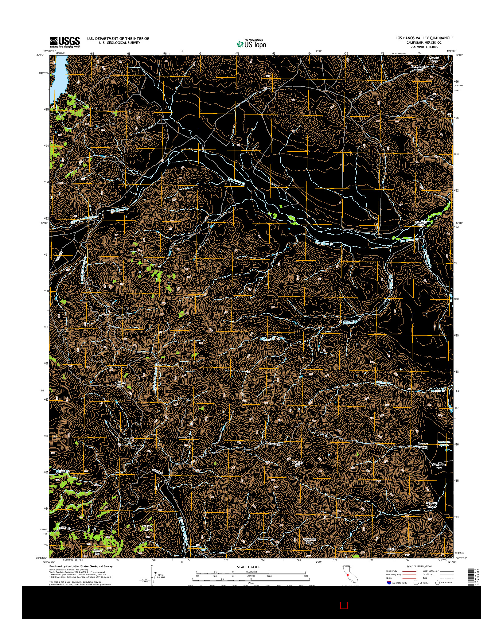 USGS US TOPO 7.5-MINUTE MAP FOR LOS BANOS VALLEY, CA 2015