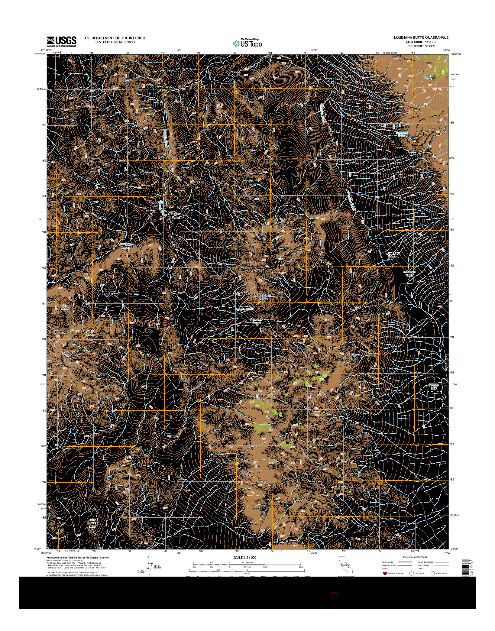 USGS US TOPO 7.5-MINUTE MAP FOR LOUISIANA BUTTE, CA 2015