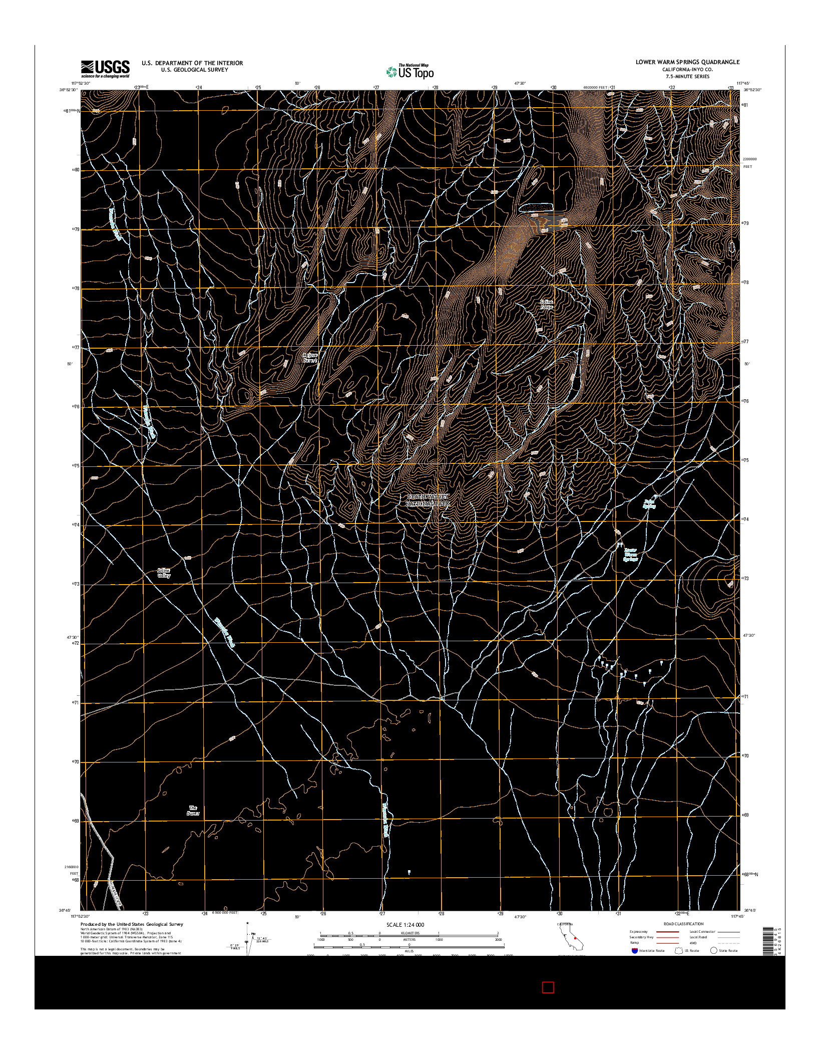 USGS US TOPO 7.5-MINUTE MAP FOR LOWER WARM SPRINGS, CA 2015