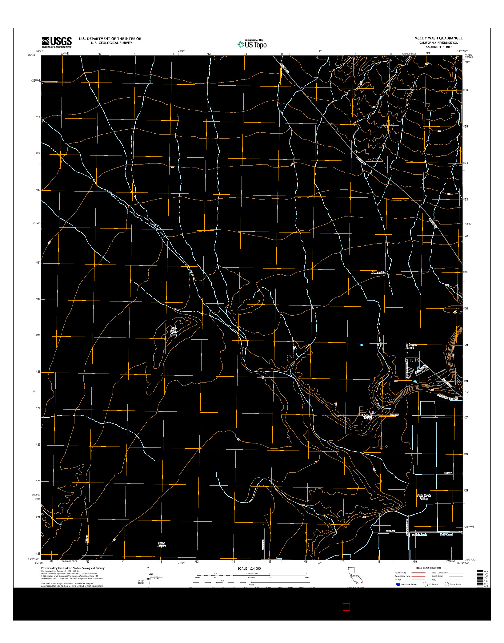 USGS US TOPO 7.5-MINUTE MAP FOR MCCOY WASH, CA 2015