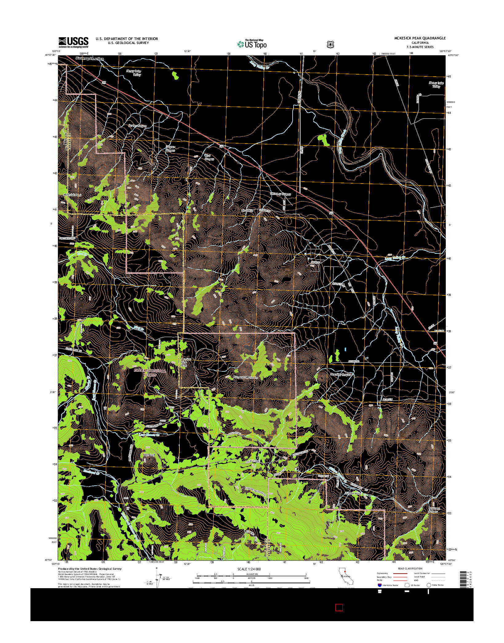 USGS US TOPO 7.5-MINUTE MAP FOR MCKESICK PEAK, CA 2015