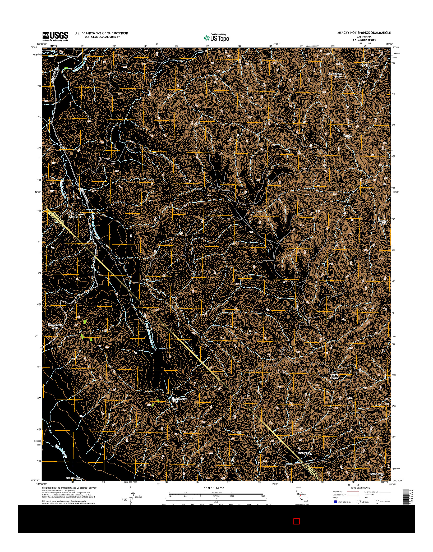 USGS US TOPO 7.5-MINUTE MAP FOR MERCEY HOT SPRINGS, CA 2015
