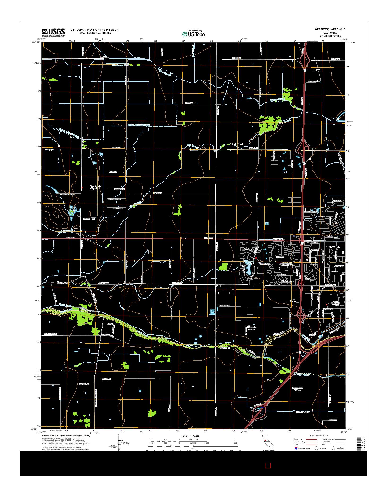 USGS US TOPO 7.5-MINUTE MAP FOR MERRITT, CA 2015