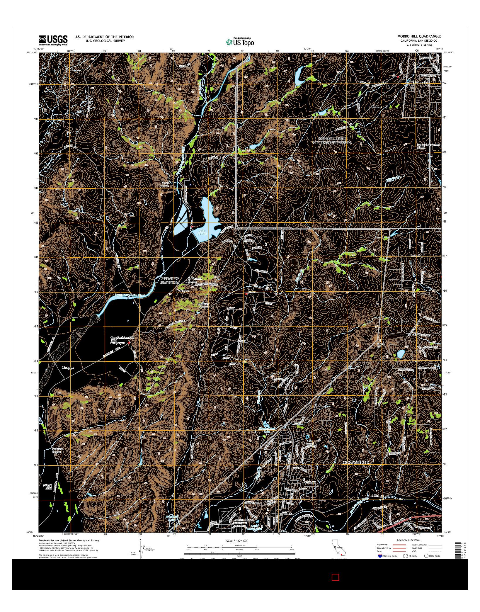 USGS US TOPO 7.5-MINUTE MAP FOR MORRO HILL, CA 2015