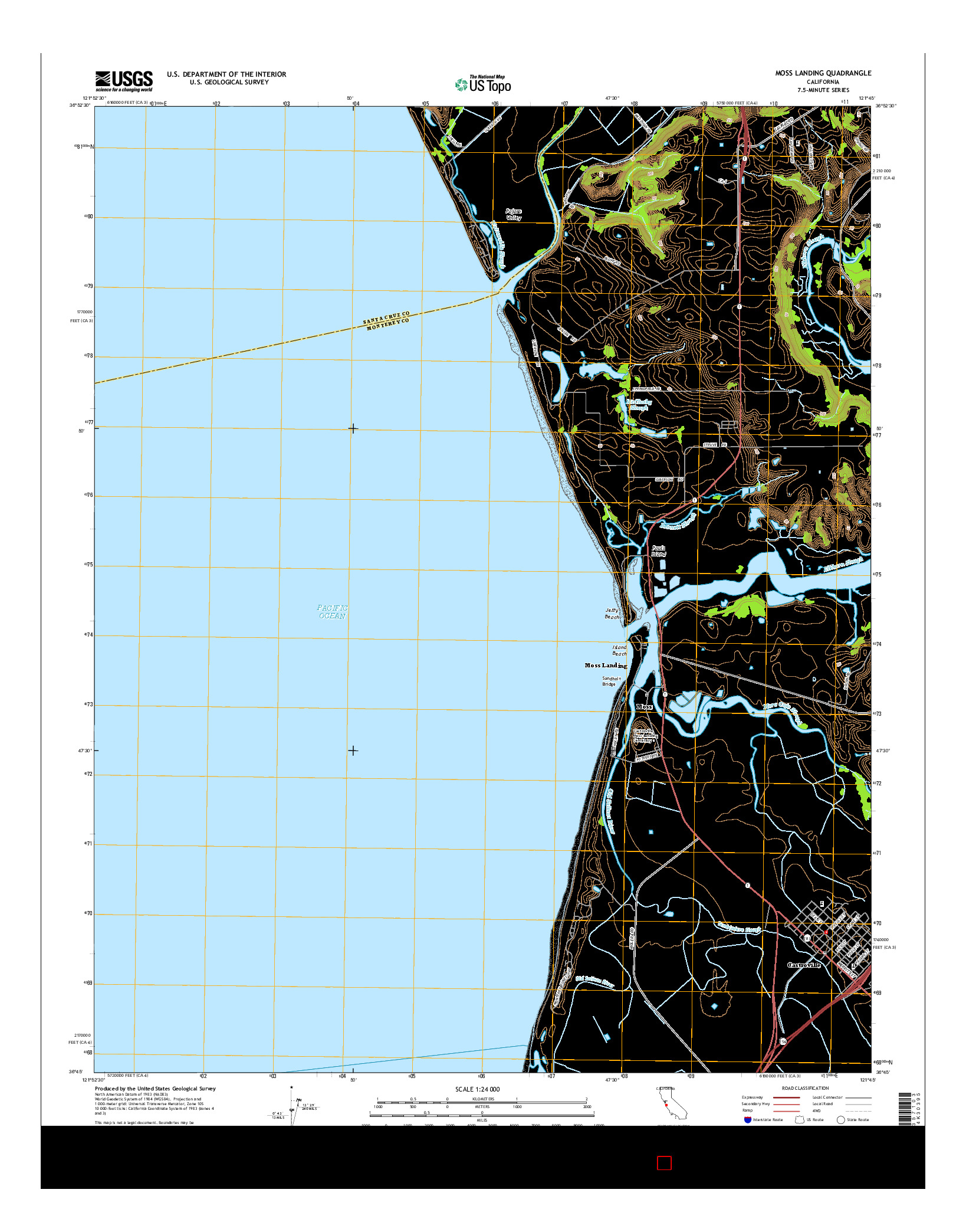 USGS US TOPO 7.5-MINUTE MAP FOR MOSS LANDING, CA 2015