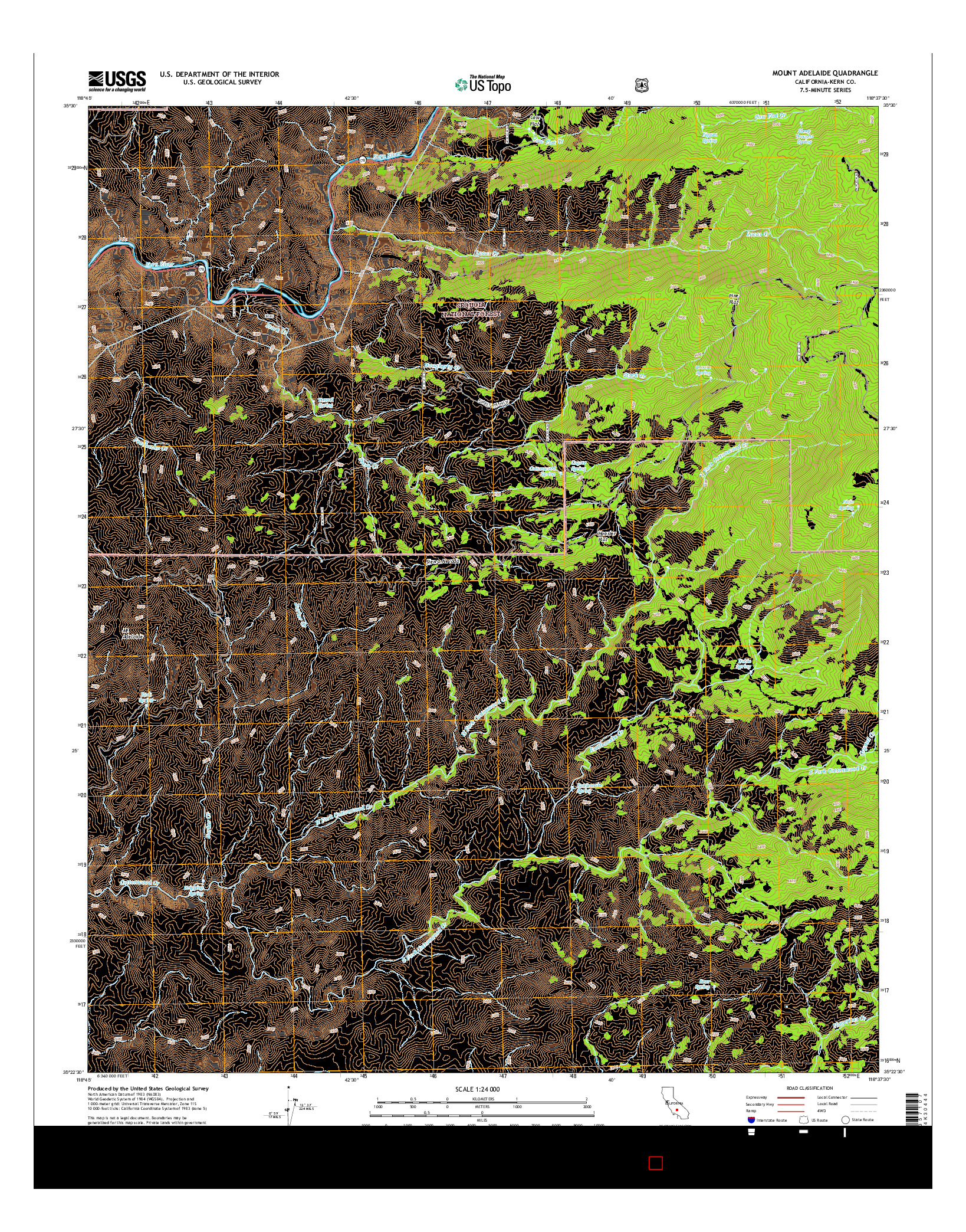 USGS US TOPO 7.5-MINUTE MAP FOR MOUNT ADELAIDE, CA 2015